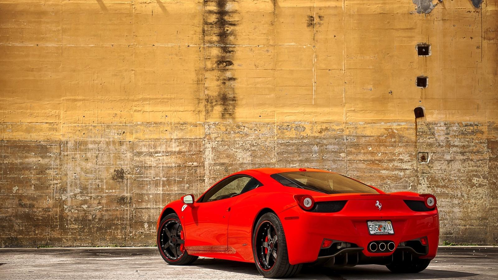 машина, ferrari, мощная, 458 italia, red