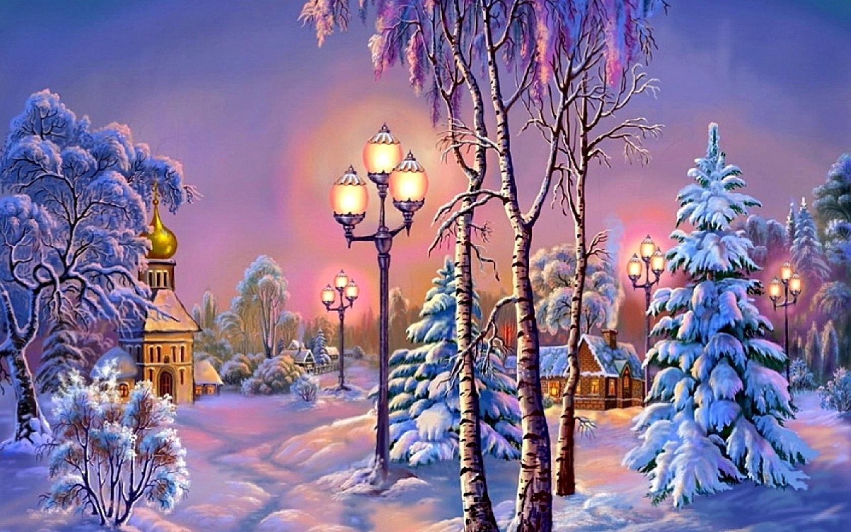 Обои зима анимация, рисунки игры веселые
