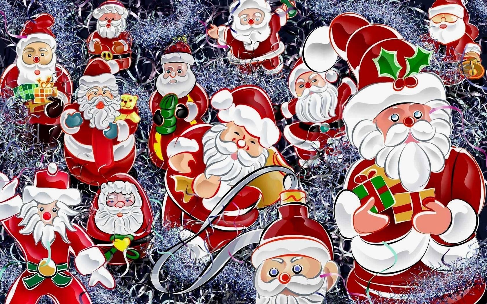 Фон картинки новый год дед мороз