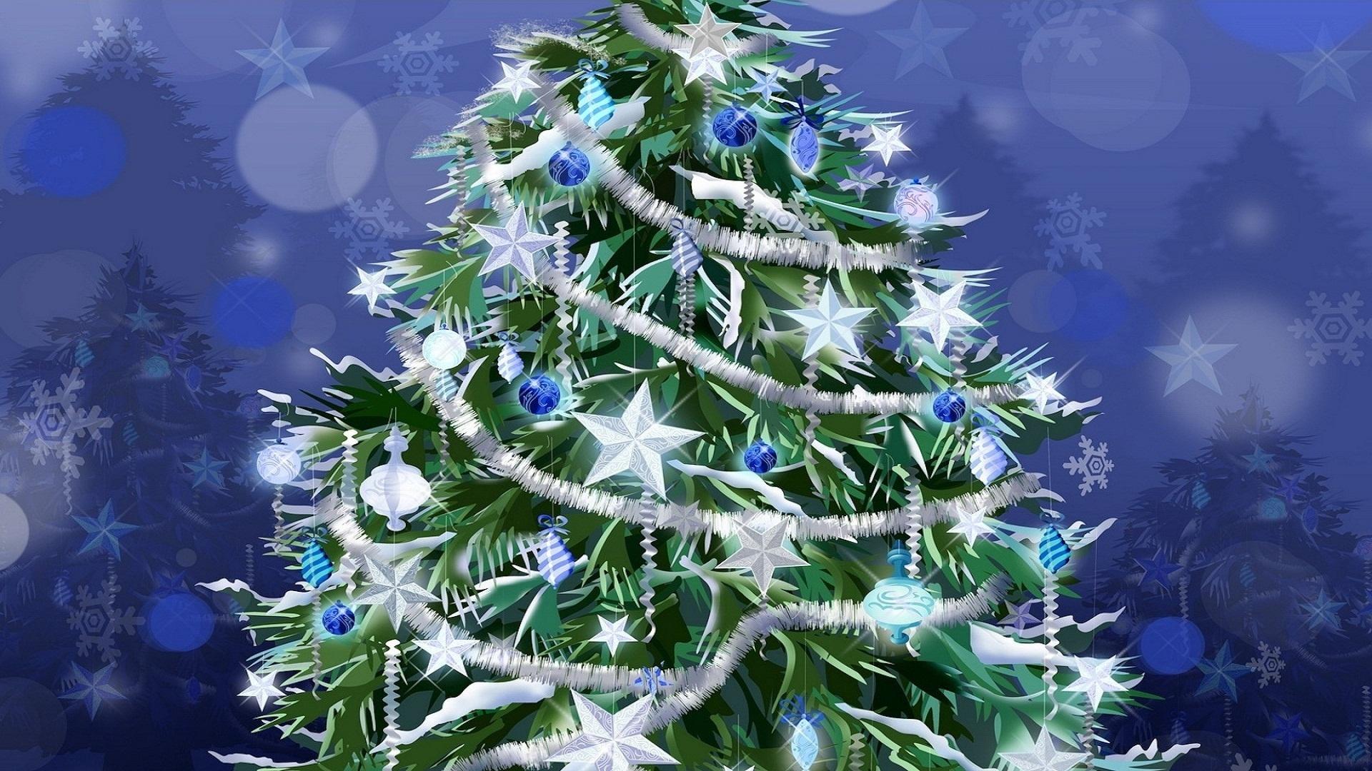 Красивые гифы новогодней елки