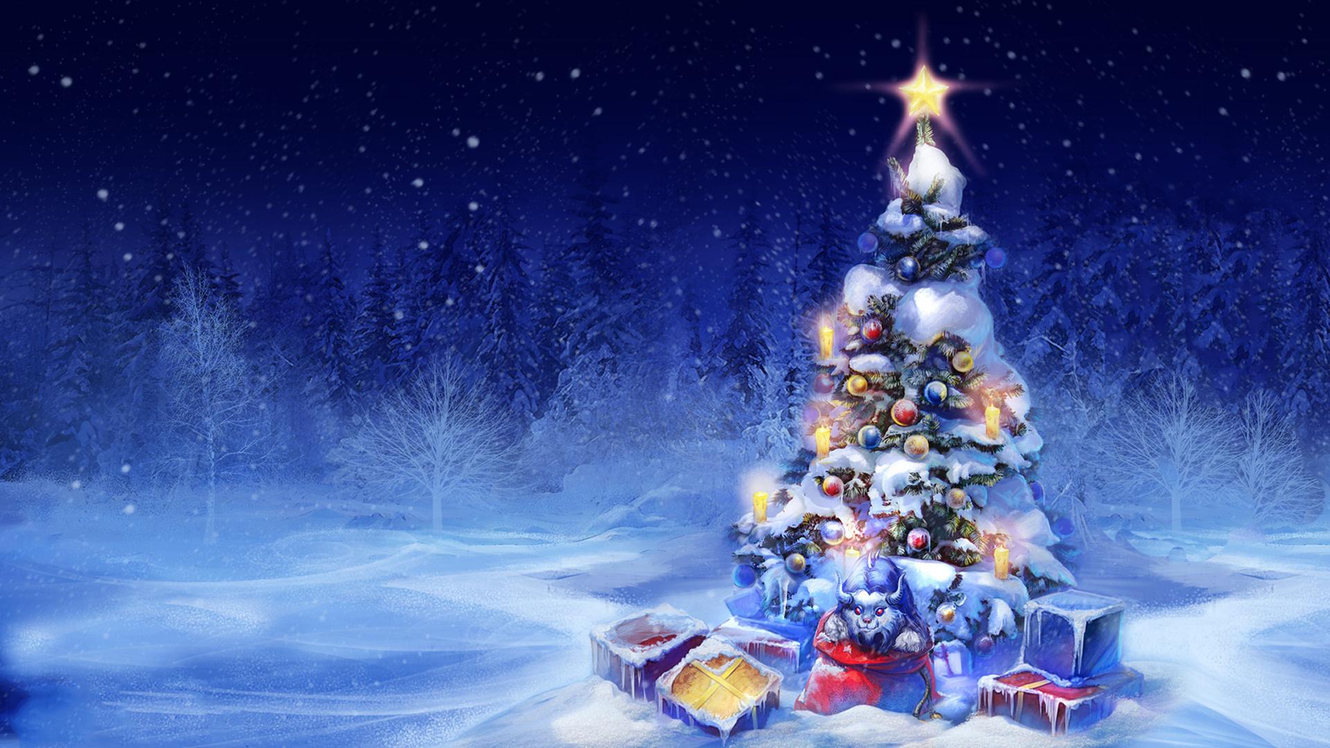 Открытки с красивой елкой, про детей