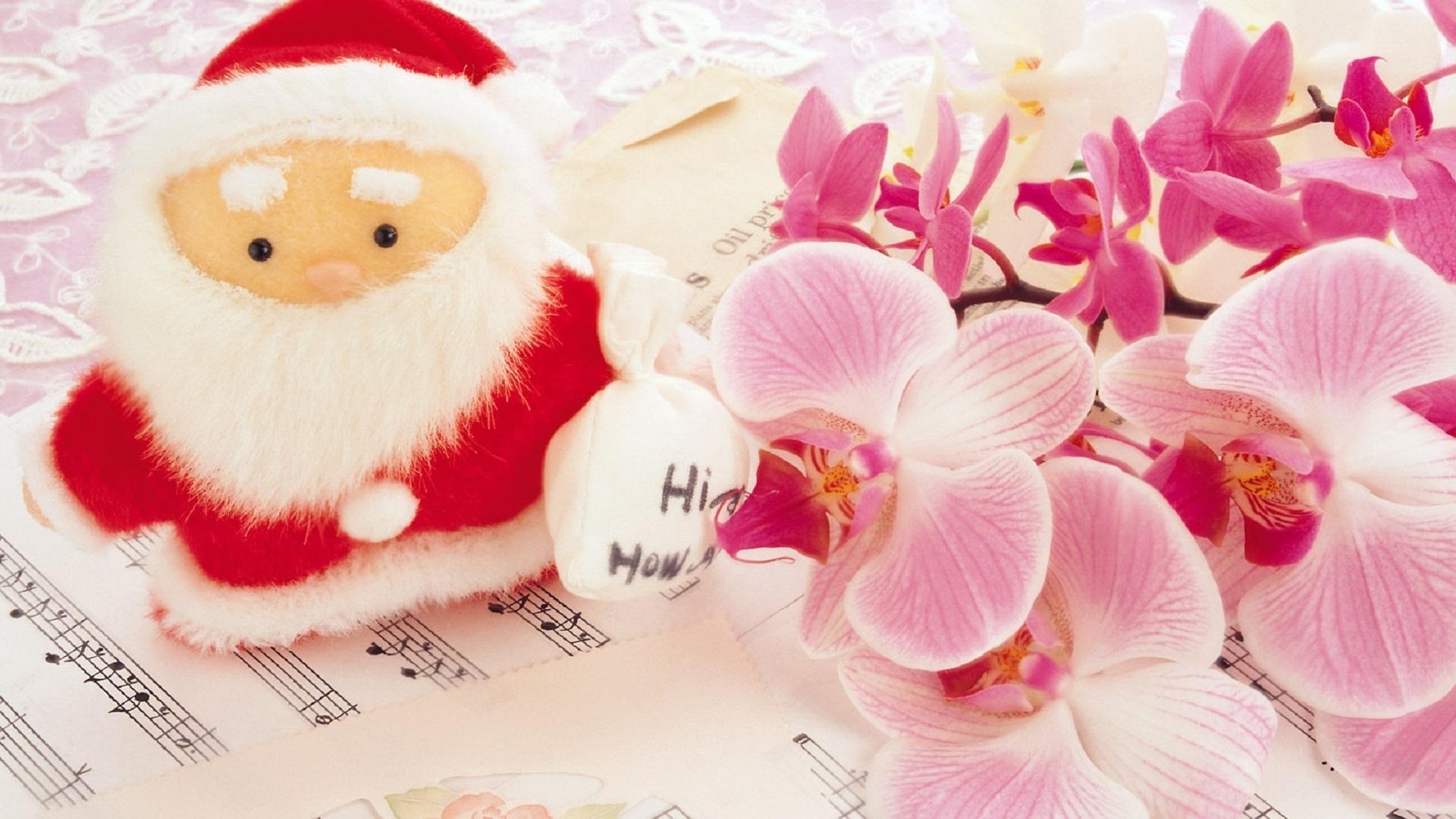 Цветок для новогодней открытки, ретро открытки дорогой