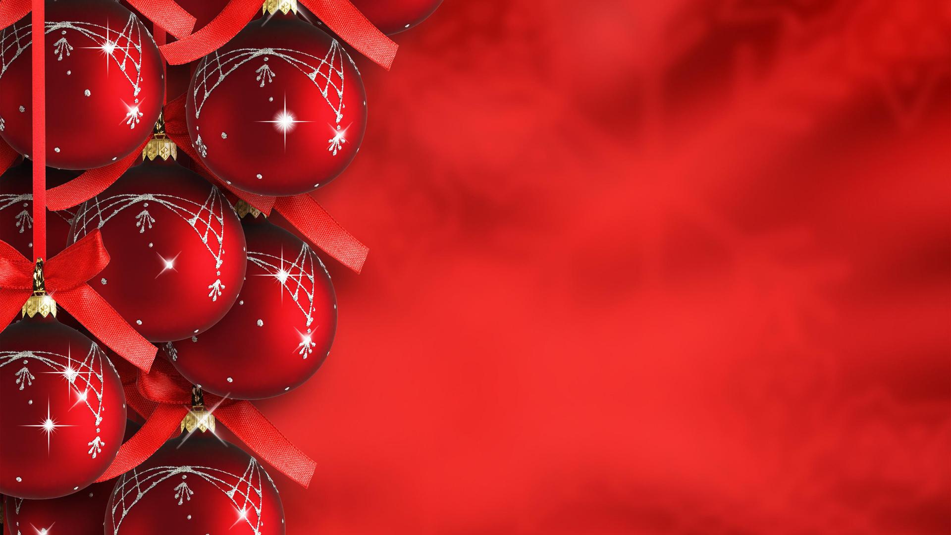 новогодняя красная открытка давних