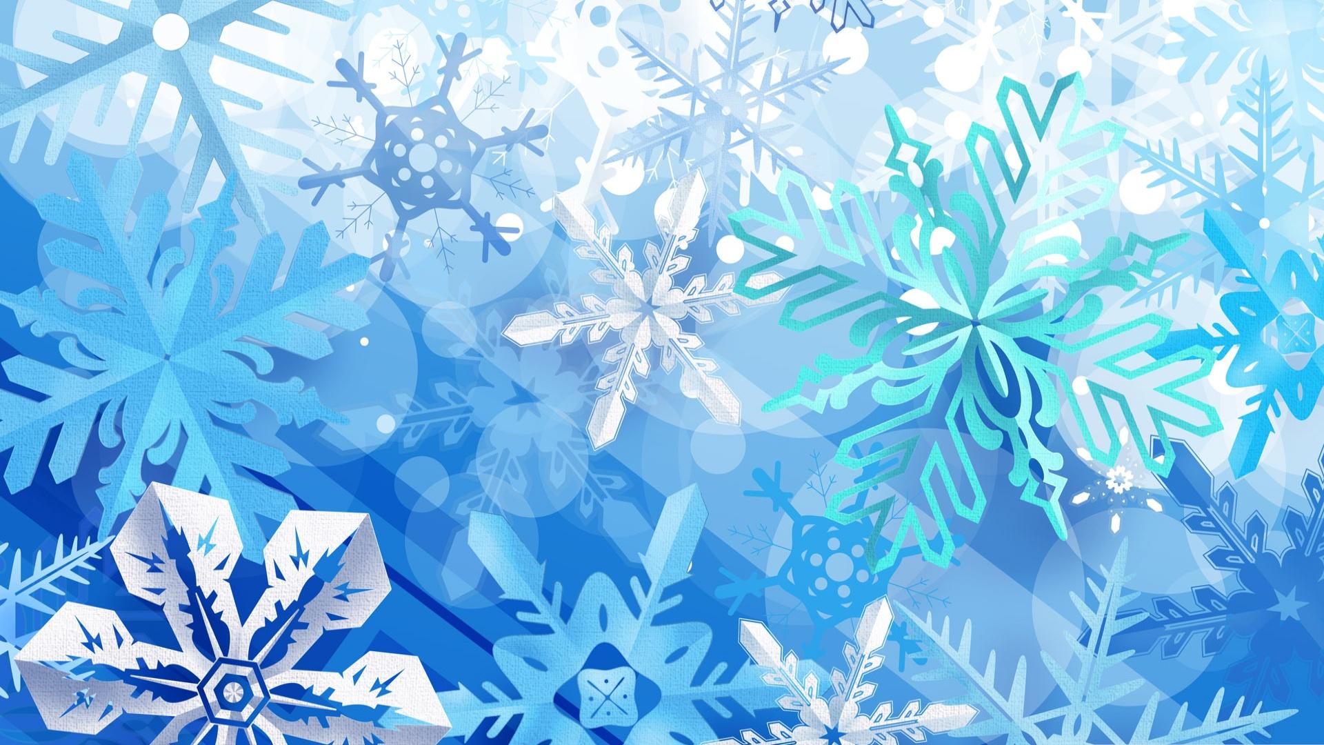 Открытки, картинки снежинки новогодние