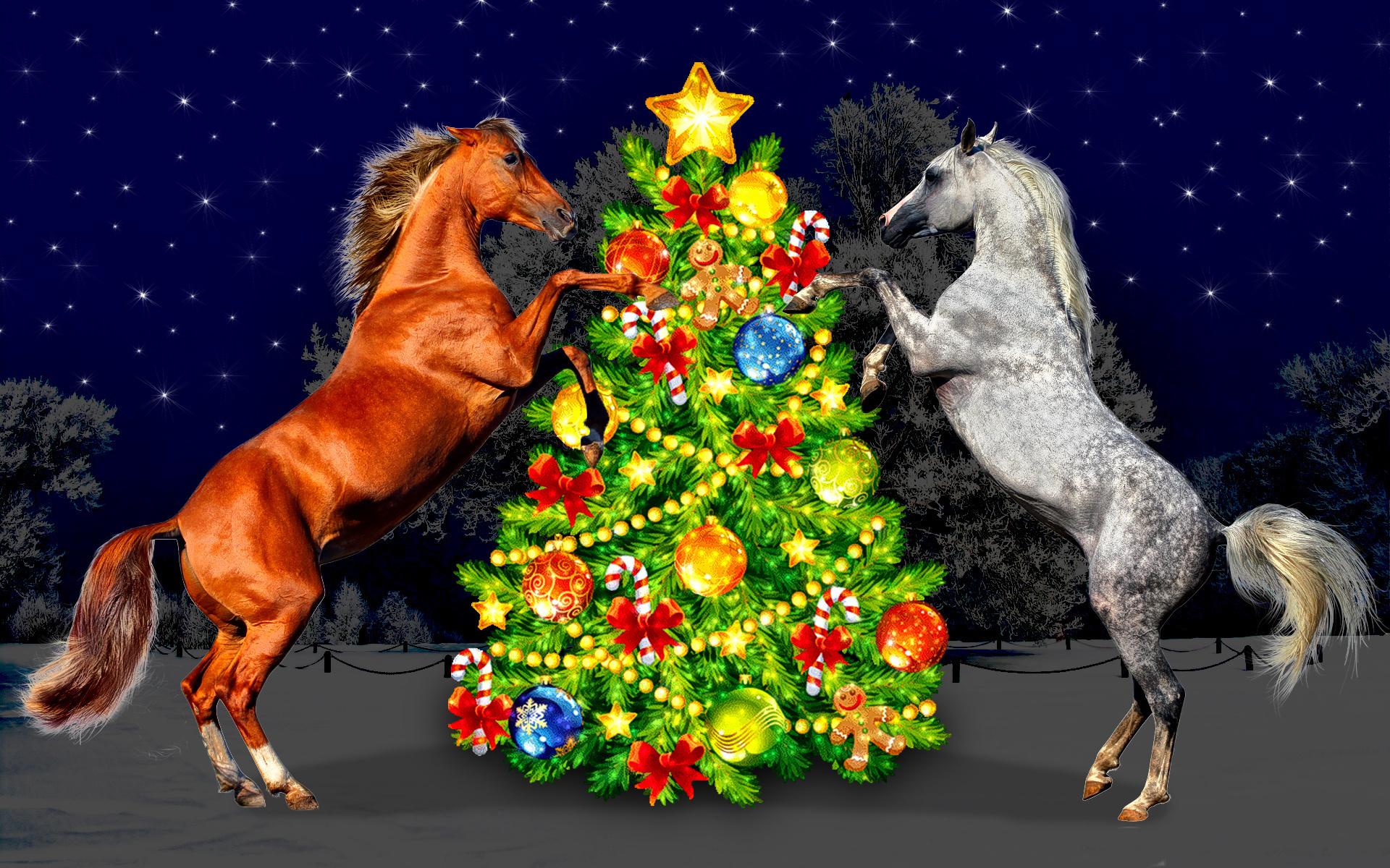 Открытки к новому году с лошадью