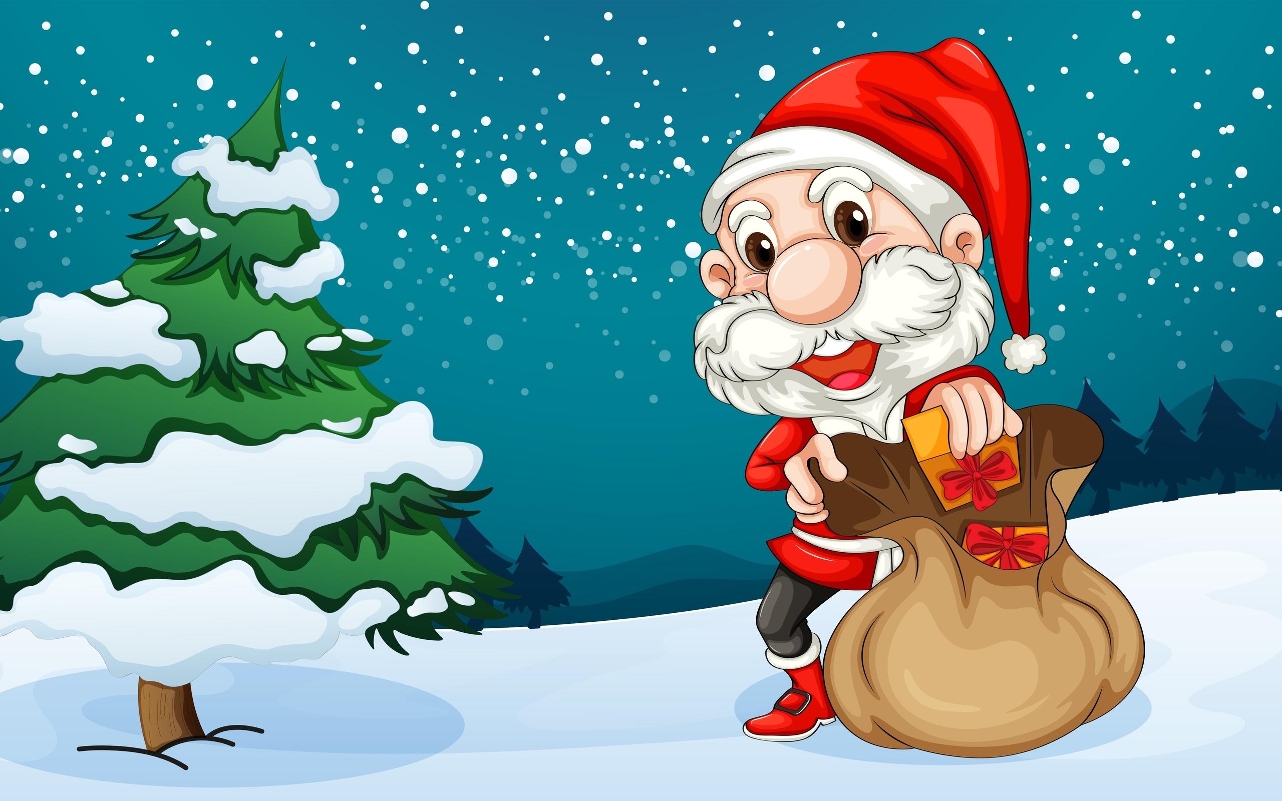 Про, смешные и красивые рисунки на новый год