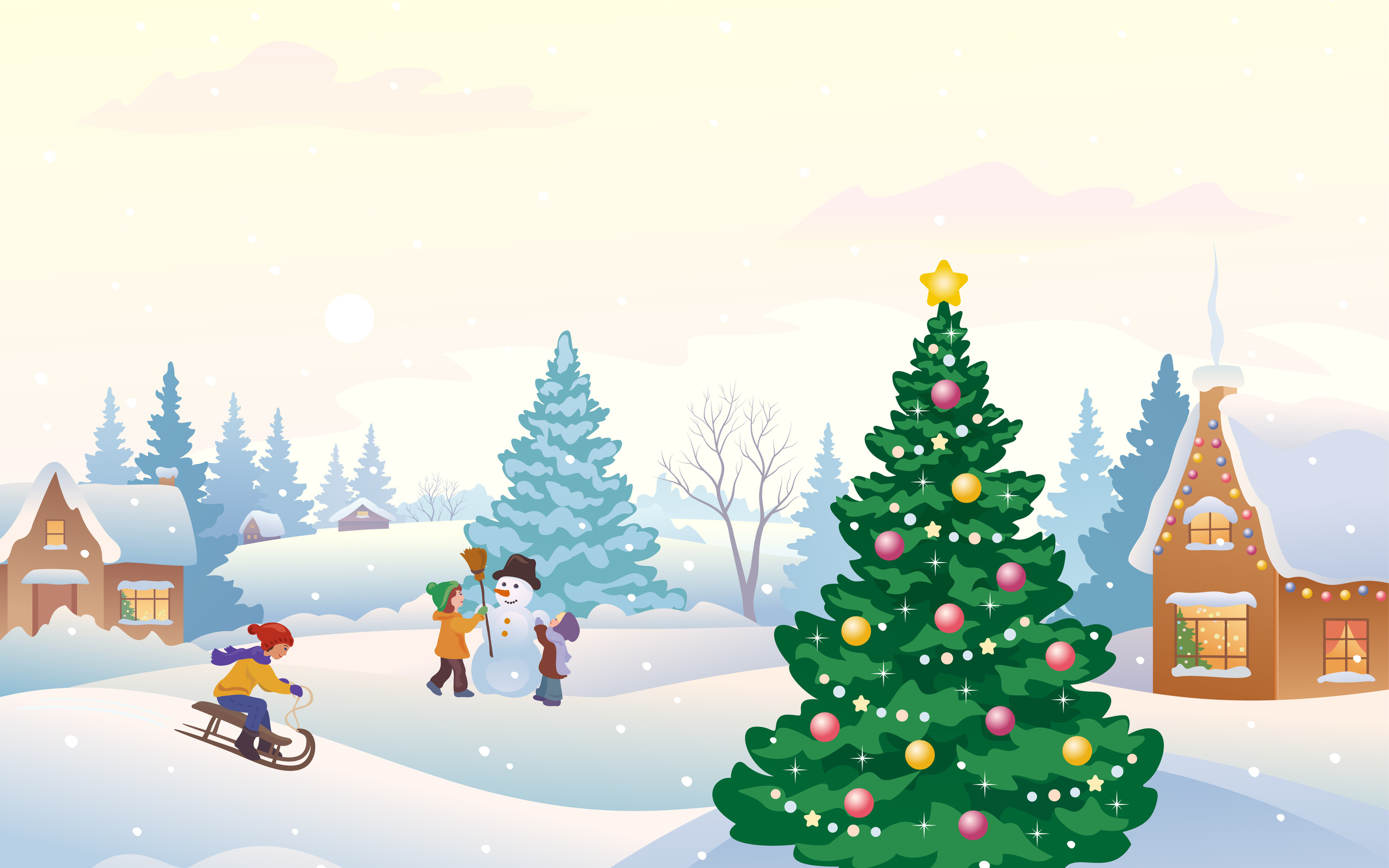 Открытки с елкой на новый год