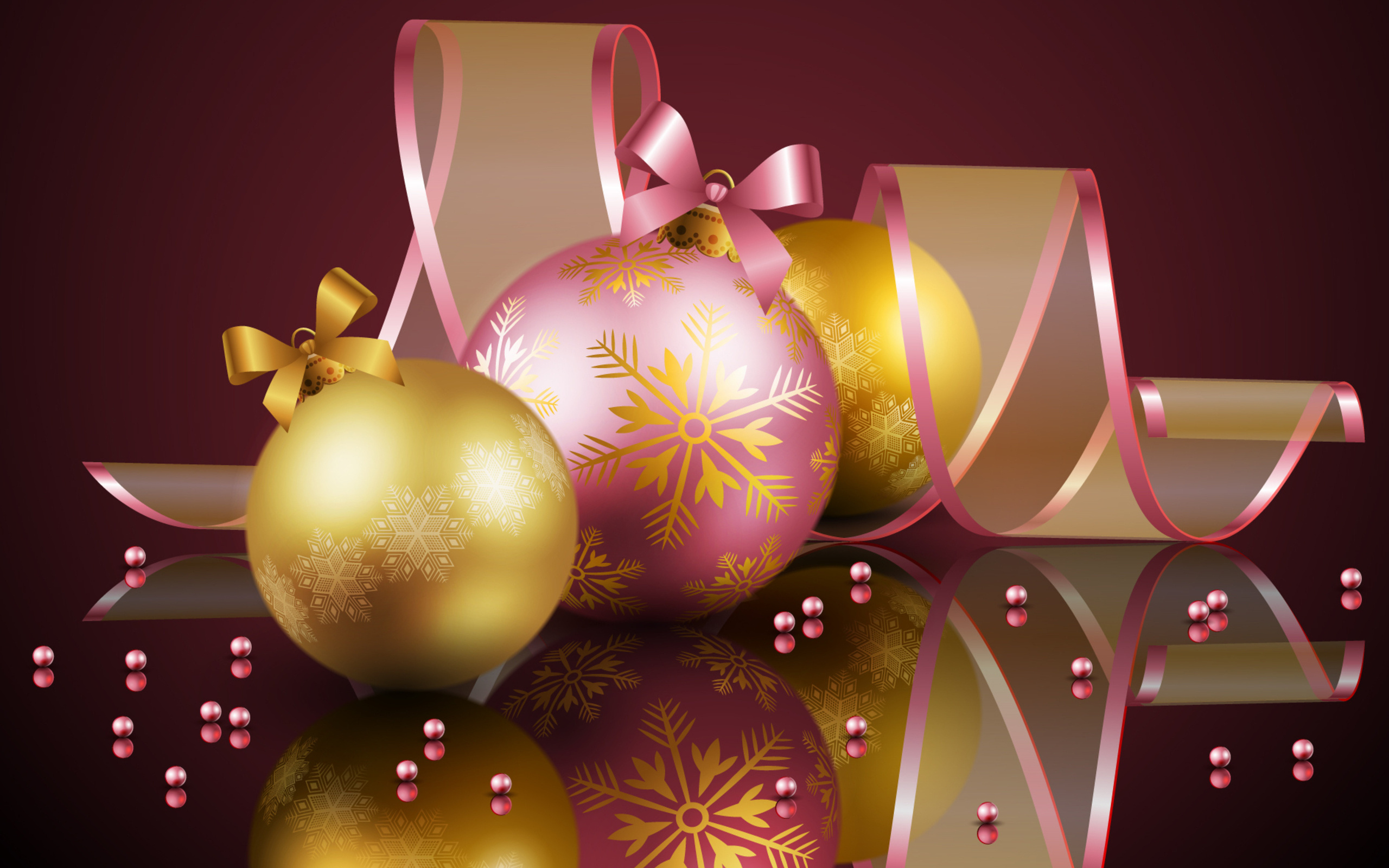 Новогодняя картинка с шарами