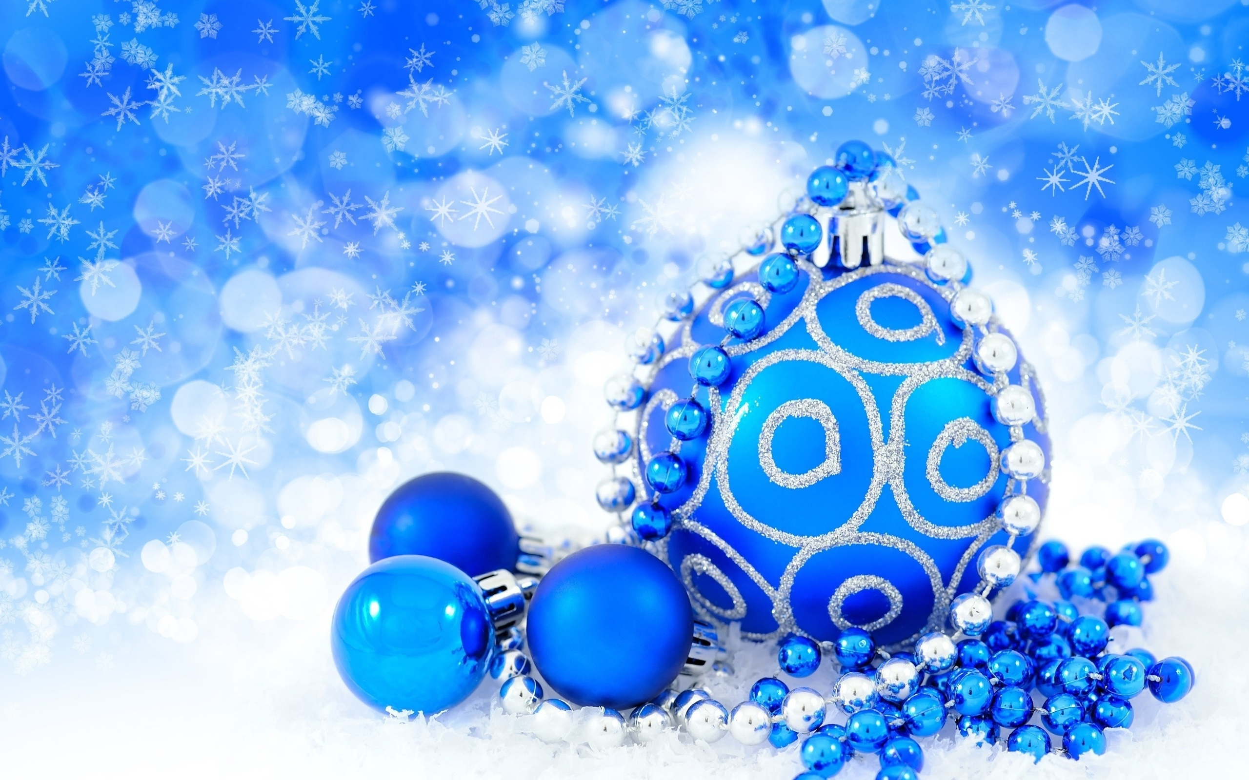 Картинки, голубые открытки с новым годом