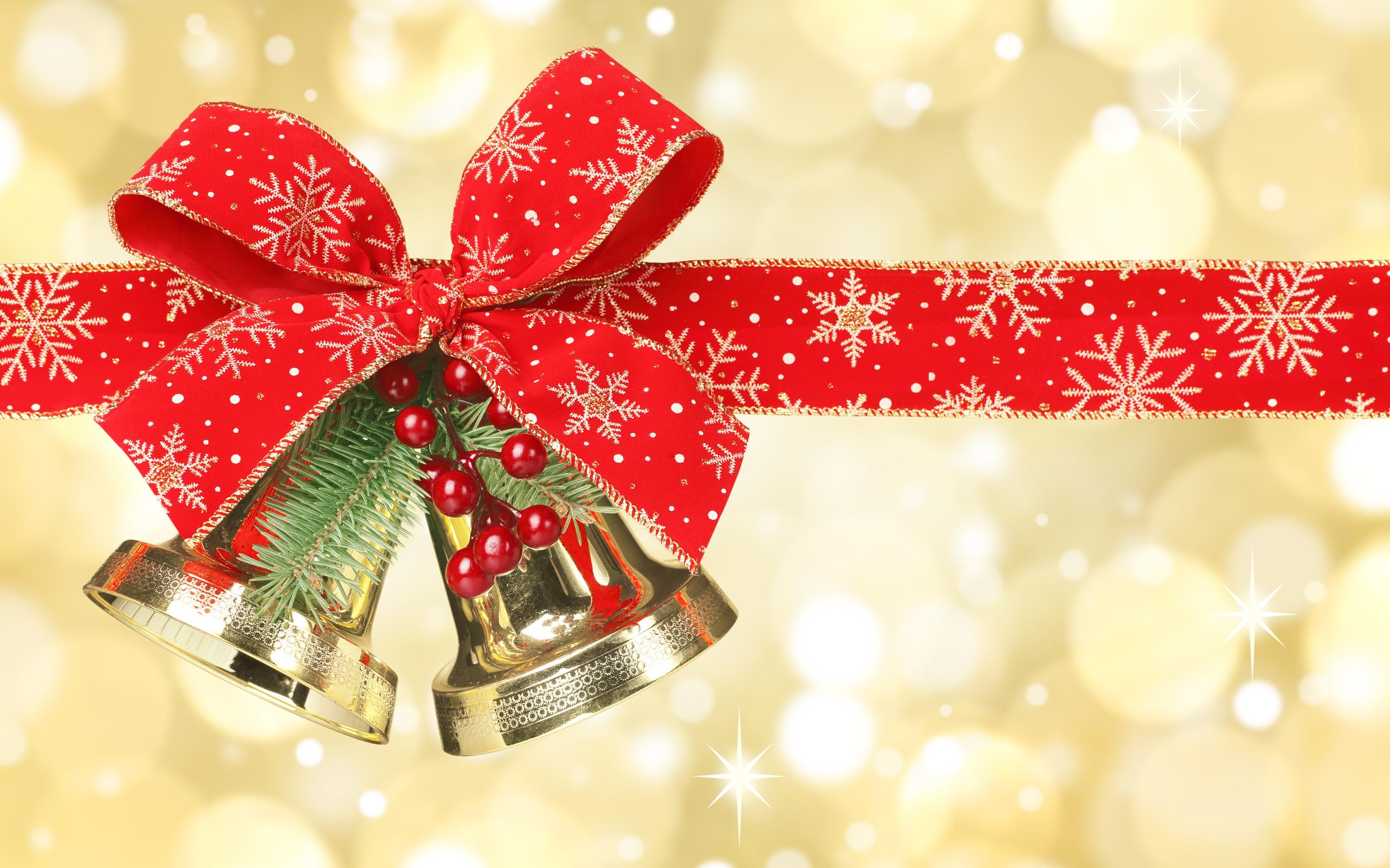 Поздравлениями, новогодняя открытка колокольчики