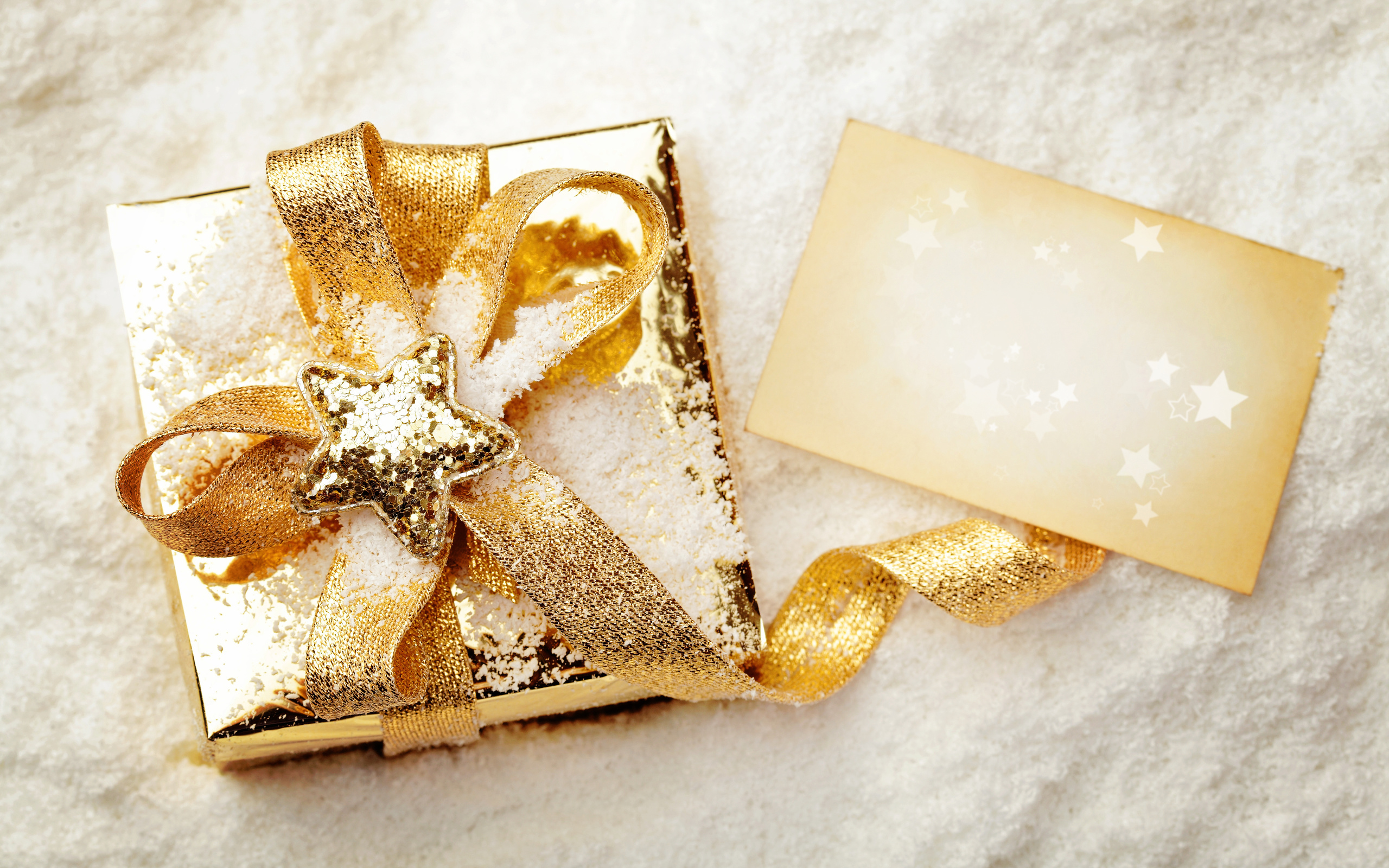 Открытки белые с золотом