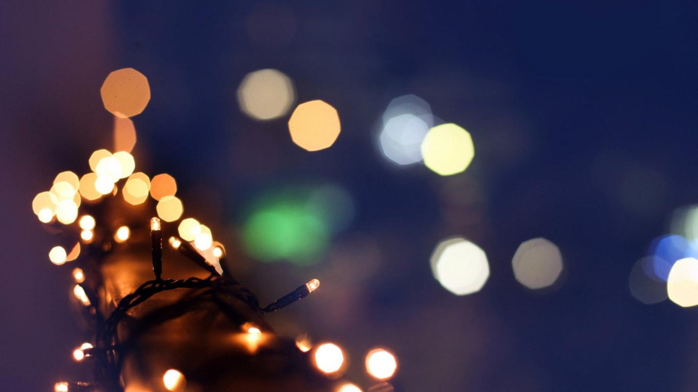огни, подсветка, новый год, праздник, рождество