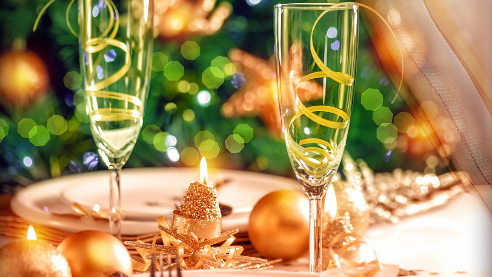 Открытка свечи шампанское, контакте