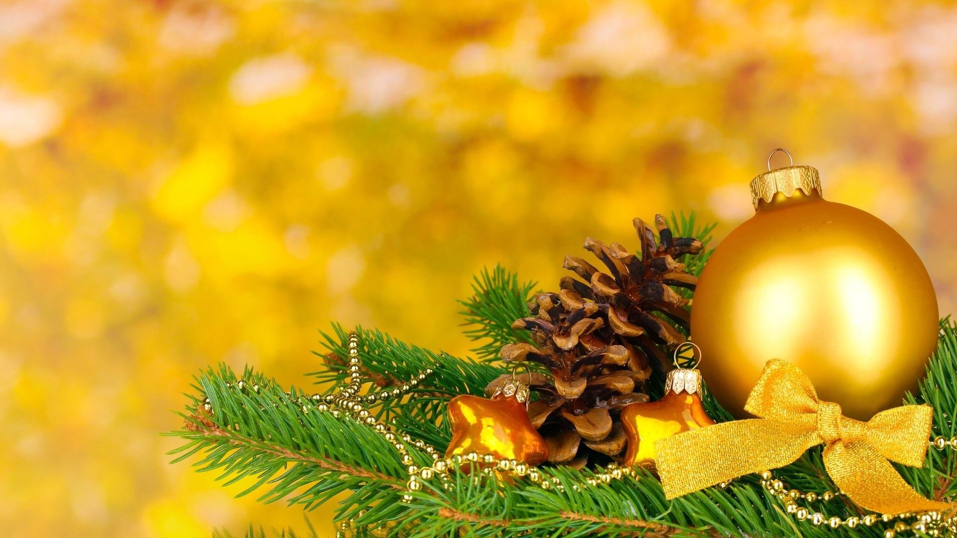Желтые открытки с новым годом