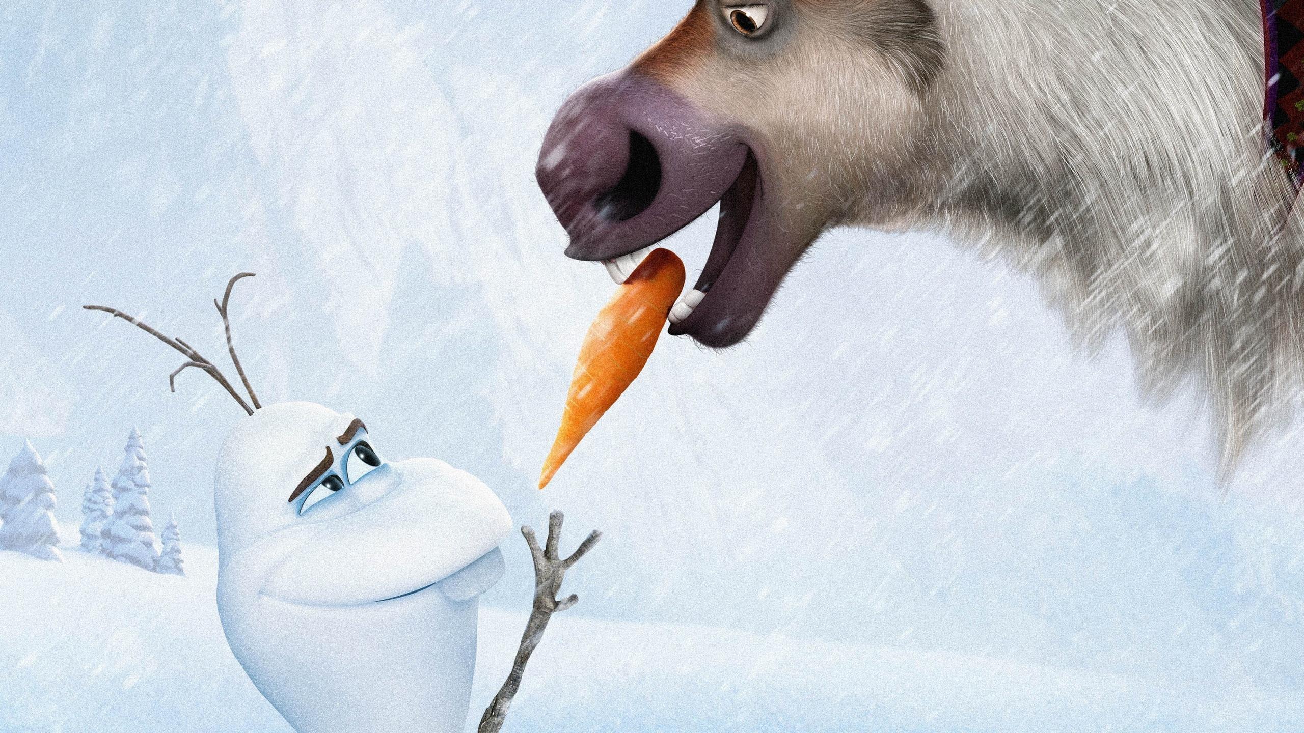 frozen, walt disney, 2013, arendelle, sven, olaf, холодное сердце, уолт дисней, анимация, эрендель, королевство, снег, лёд, олень, свен, снеговик, олаф, морковка