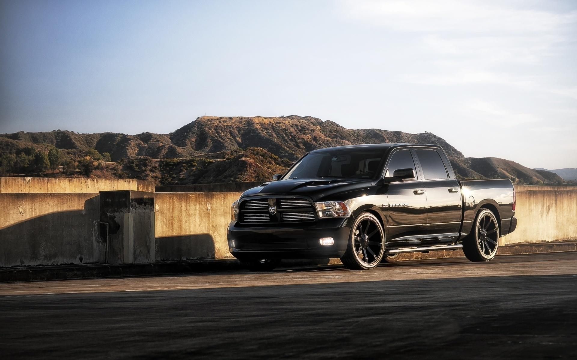 джип, 1500, чёрный, додж, пикап, Dodge, ram, передок, рэм