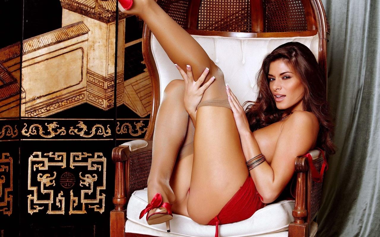 madelyn marie, модель, взгляд, чулки, ножки, бедра, грудь