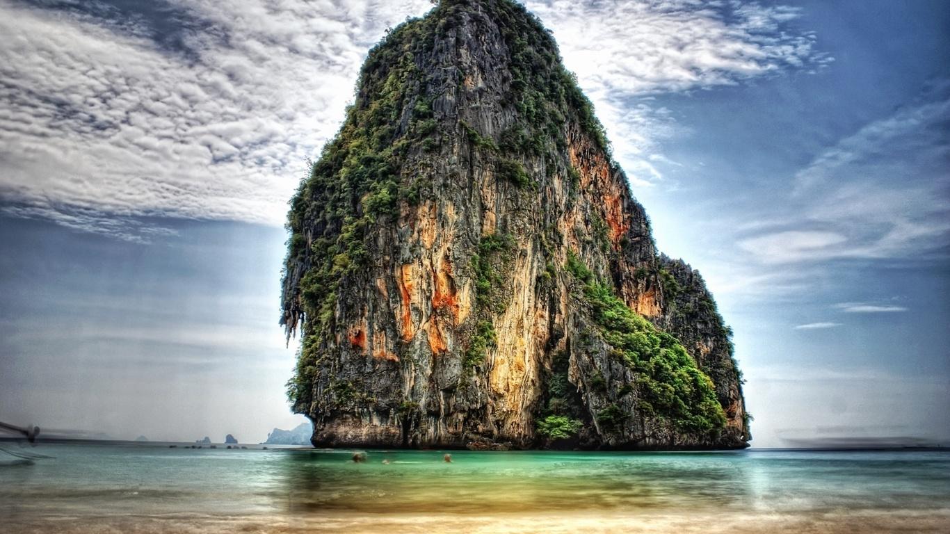 природа, скалы, океан, фотошоп