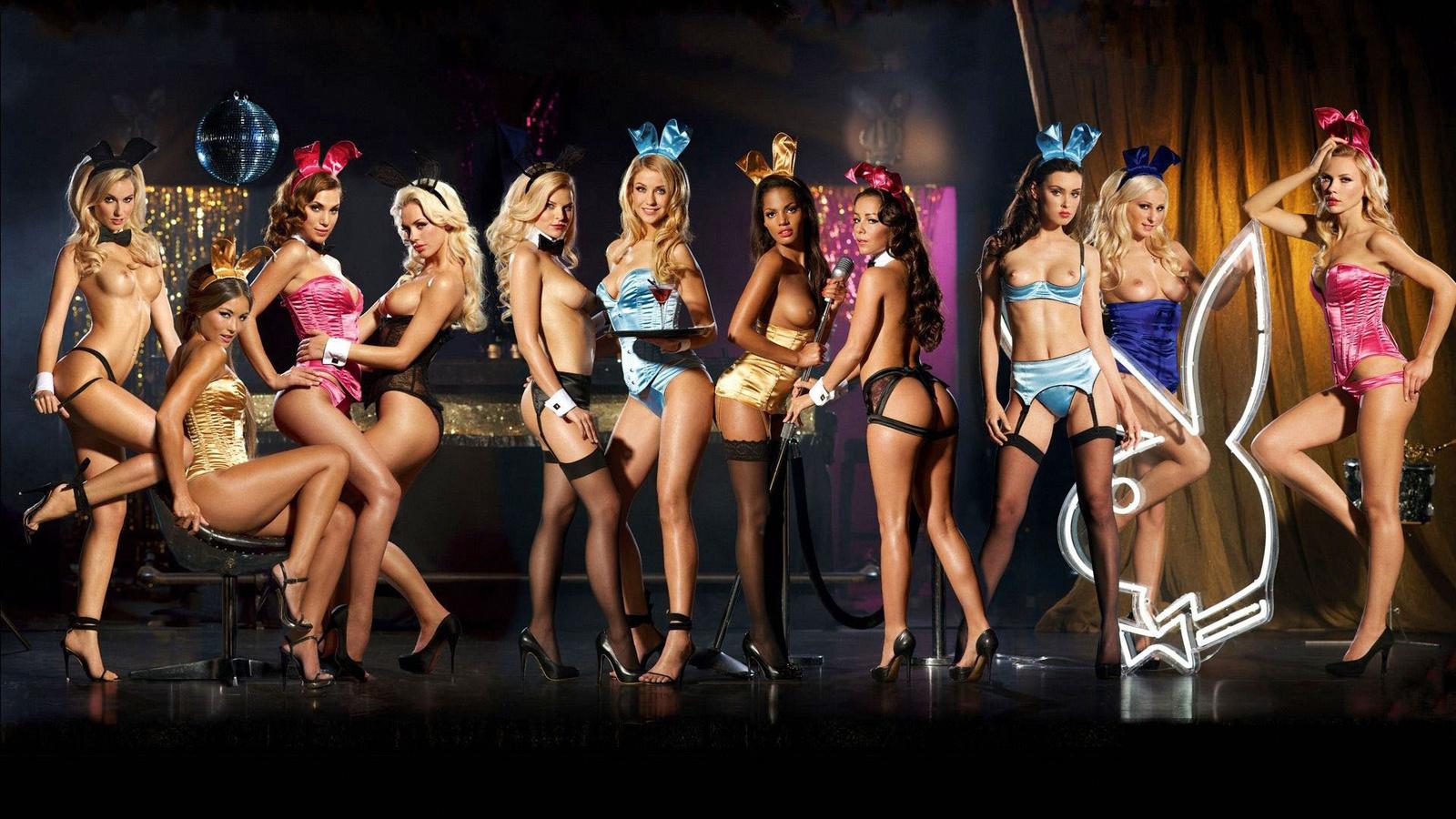 playboy girls, tits, sexy, naked, beautiful, breast, legs, девушки, ушки, сиськи, ножки, секси, заяц, бельё, подтяжки, чулки, попки, группа, группа девушек, зайка