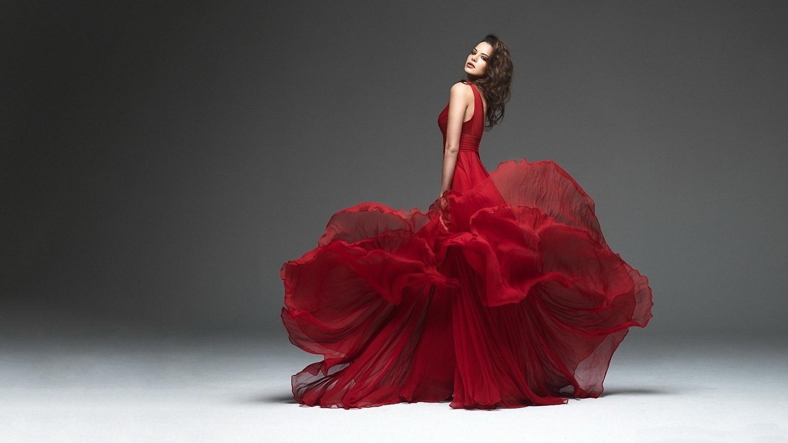 взгляд, фигура, талия, платье, движение, красота, грация, изящество, танец, платье, красный