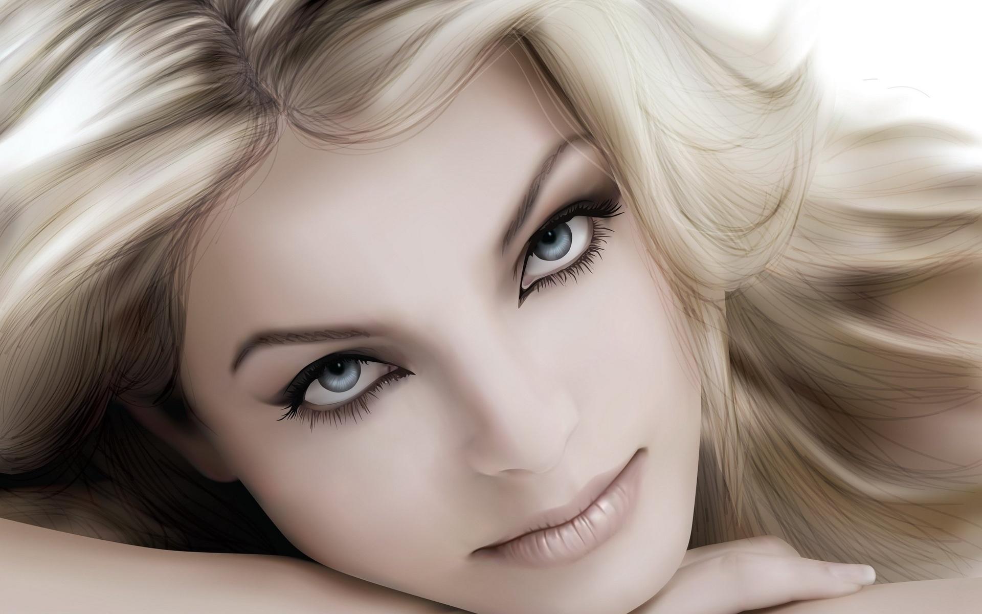 девушка, красотка, глаза, улыбка