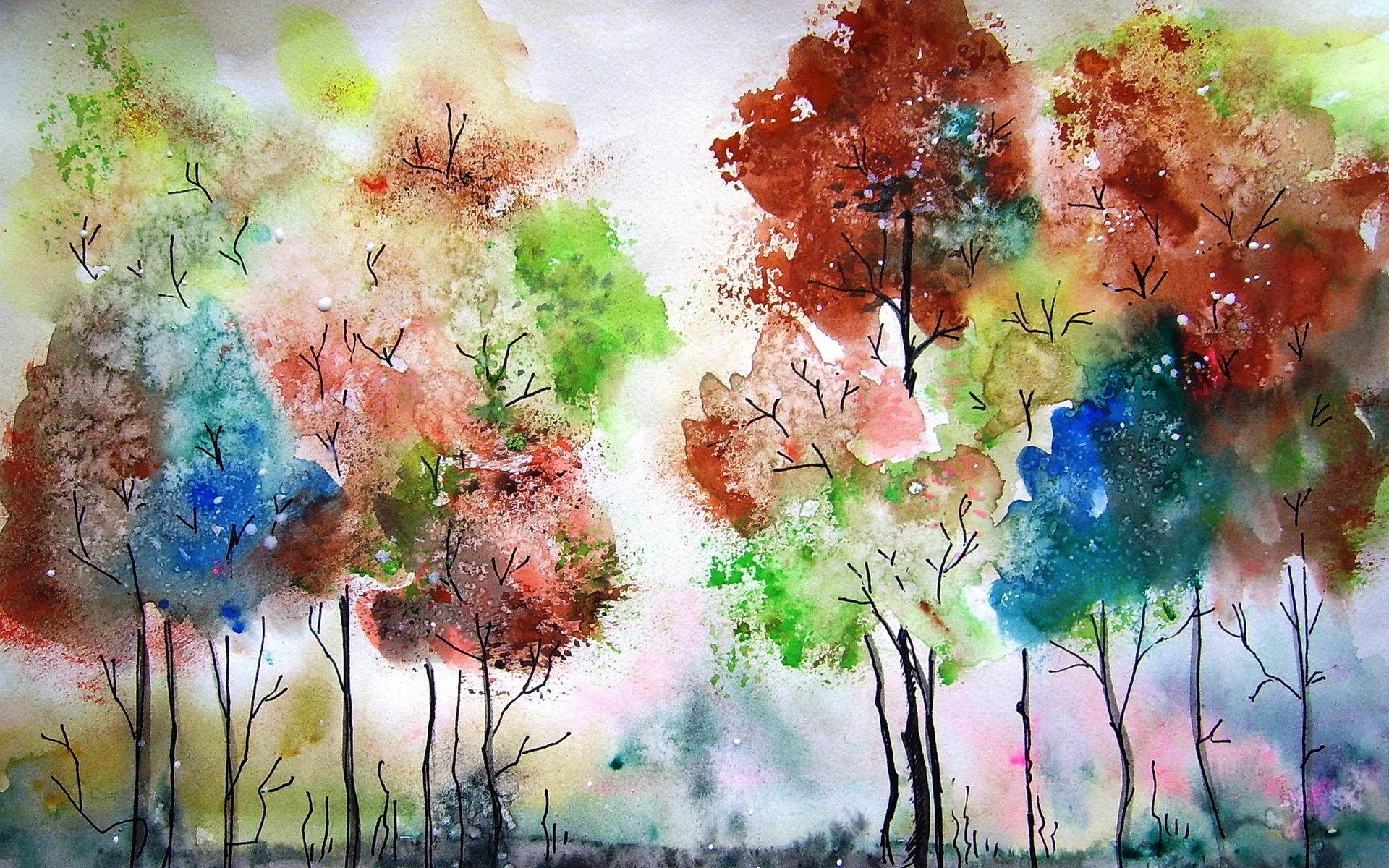 Как можно нарисовать картинки из красок
