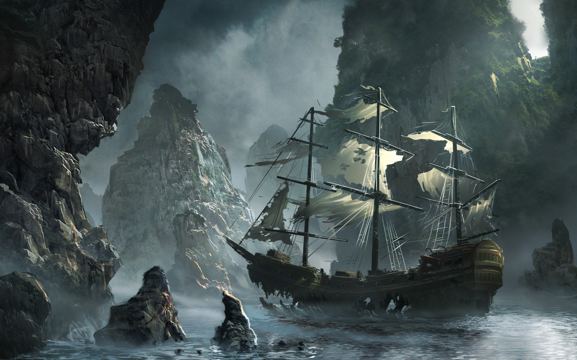 Картинки пиратских кораблей