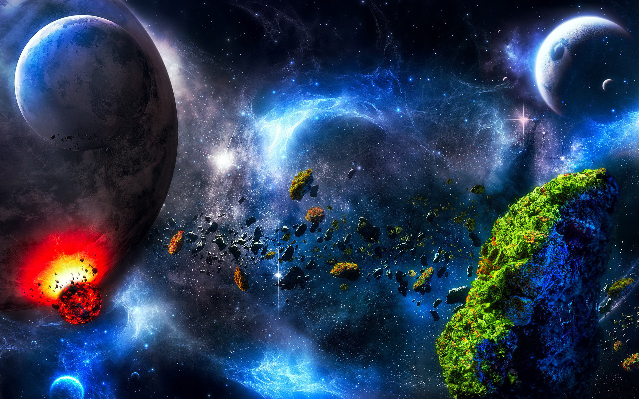 asteroid planet game - HD 2560×1600