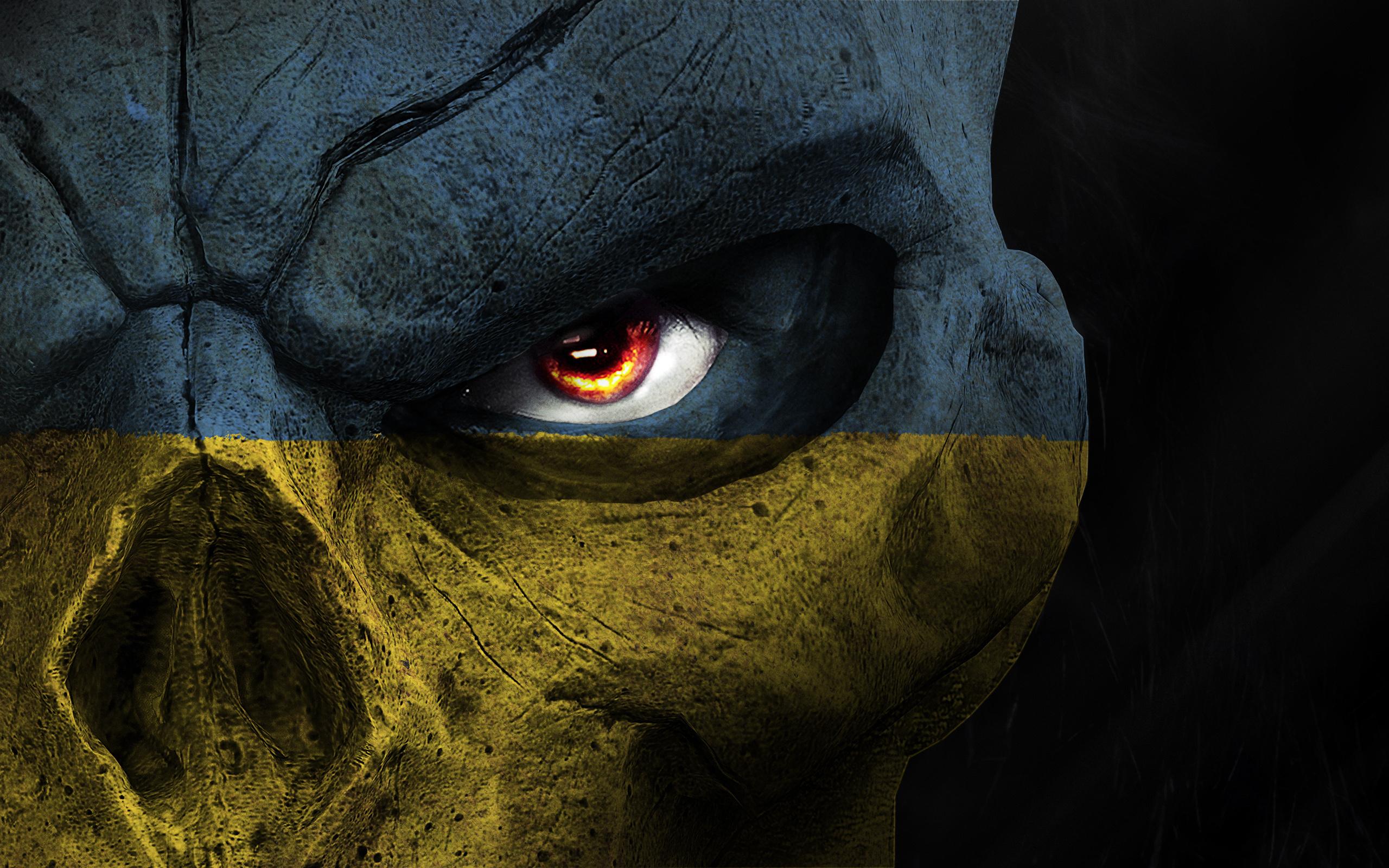 голова, фотошоп, флаг украины, игра, маска,смерть,глаза,darksiders 2, флаг пидарастической страны, украина, укропитек сказочный