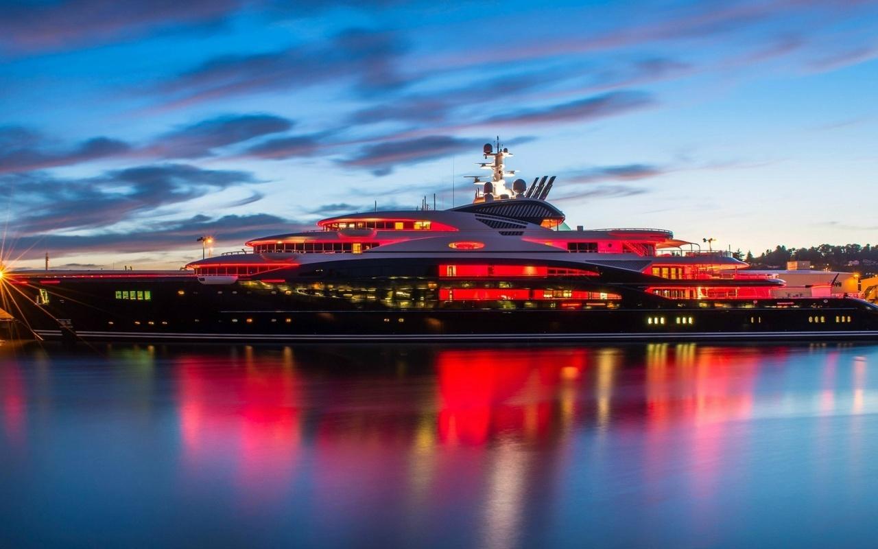 Яхта, мега-Яхта, serene, 134 м. корабль, 500 кв. м. свободного пространства, люкс, небо,облака