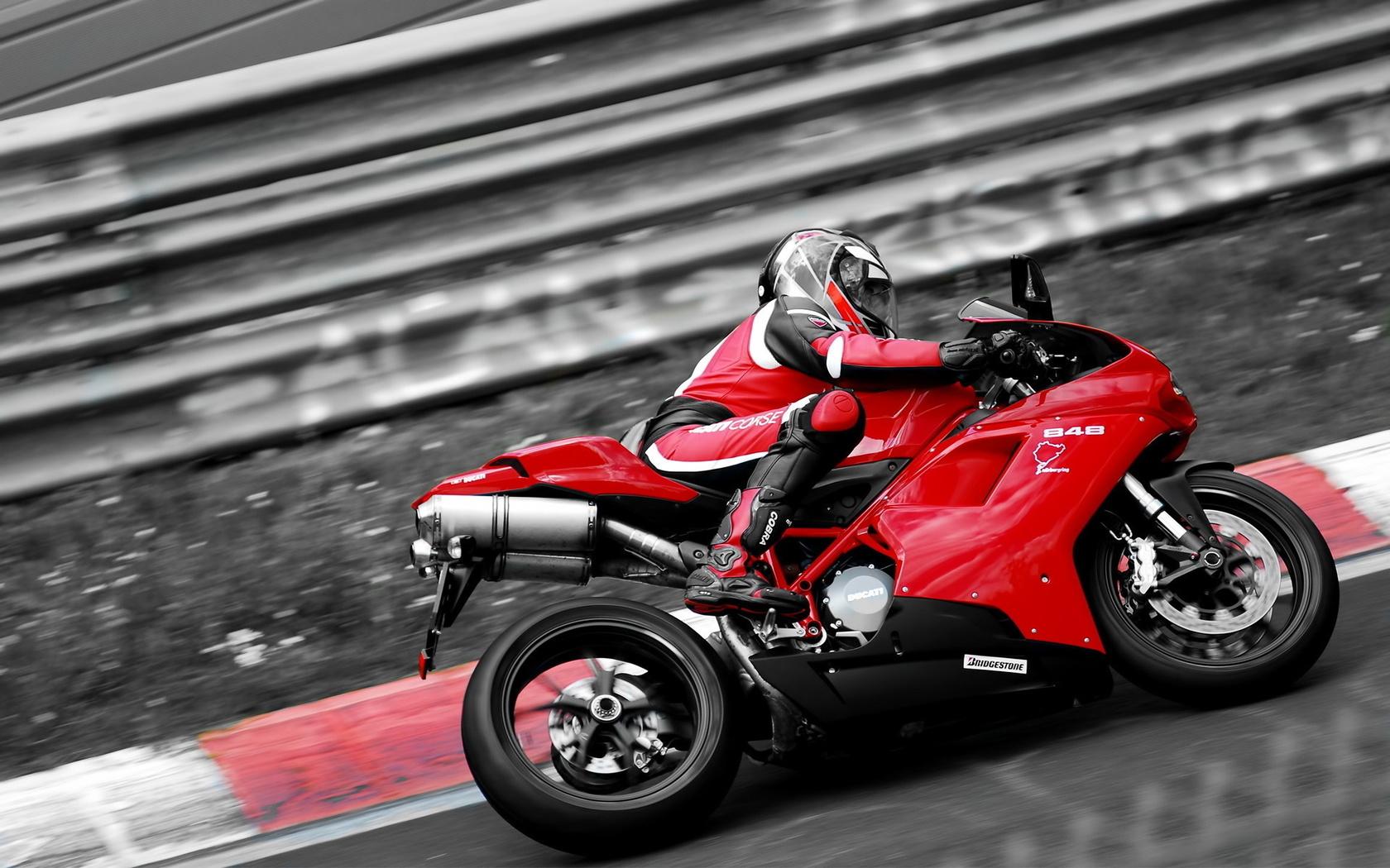 ducati, скорость, поворот