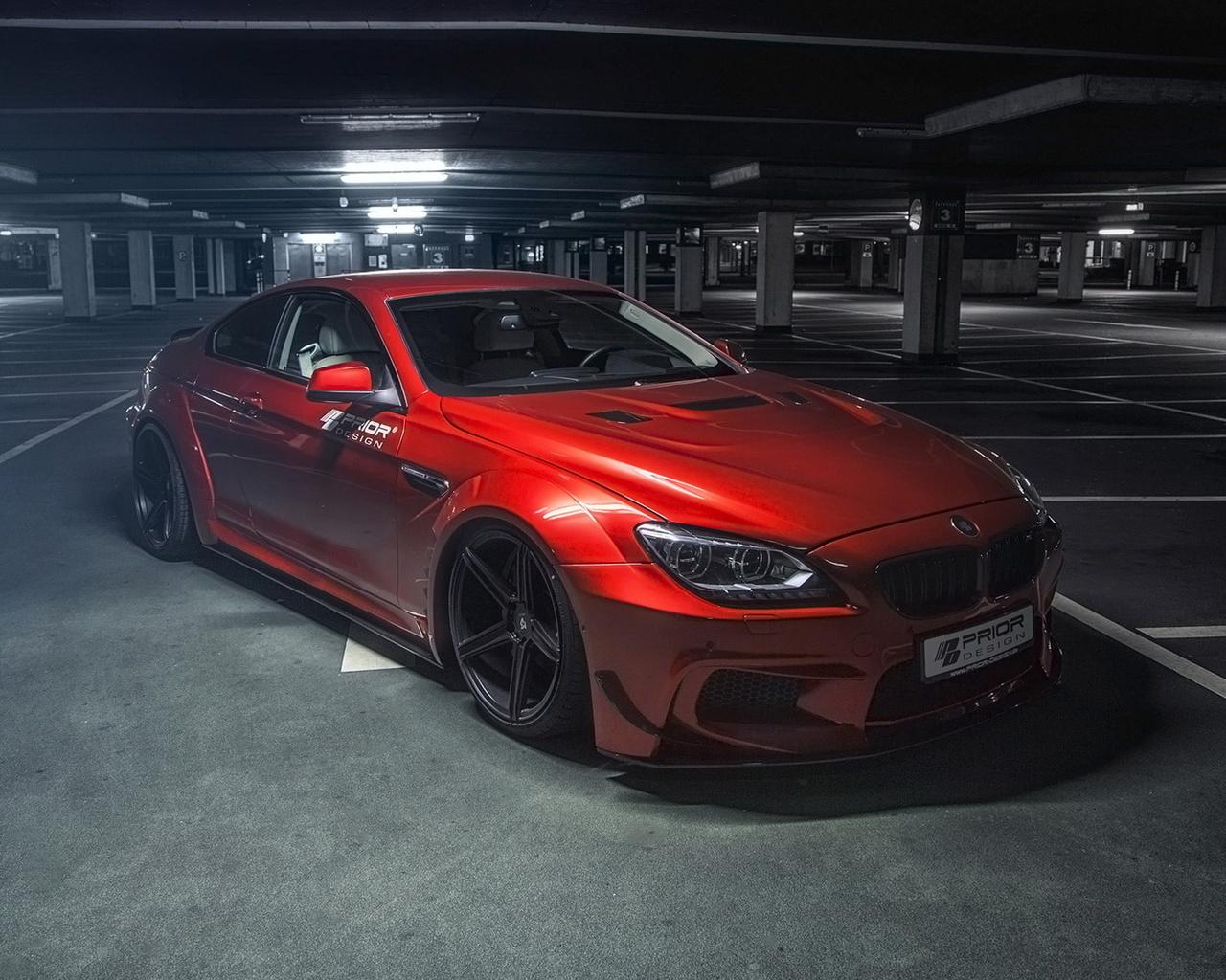 авто, красный, тюнинг, m6, bmw, 6-series, купе, prior design, f12