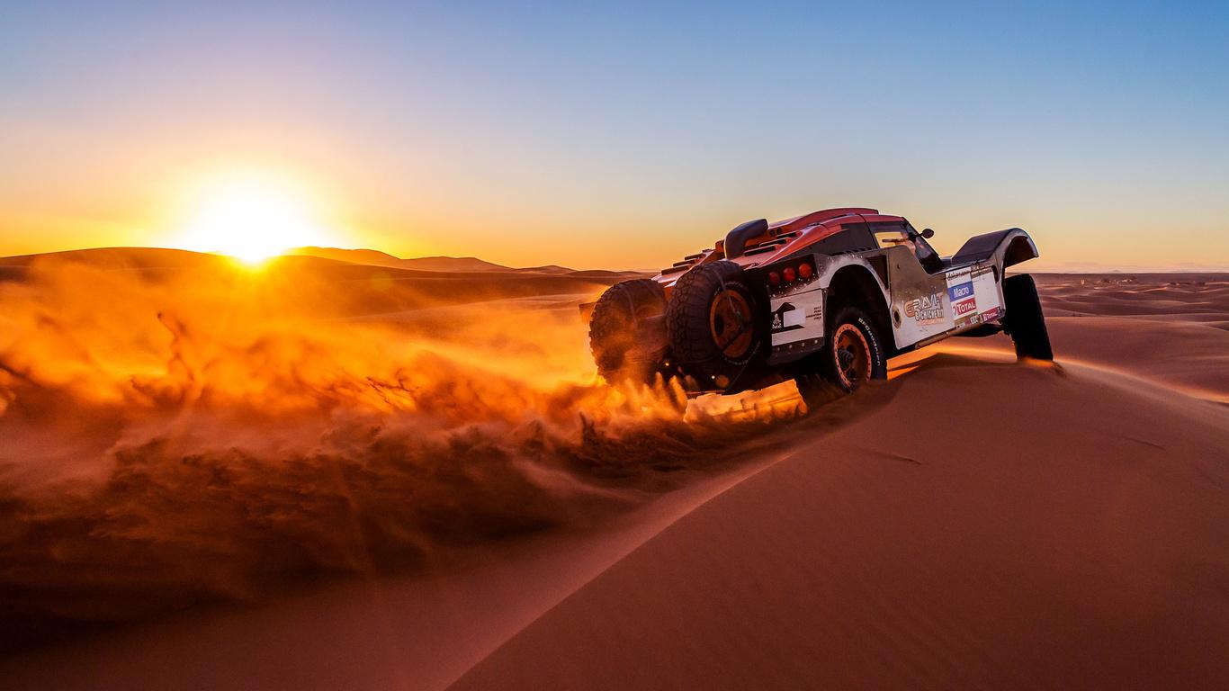 buggy, dakar, дакар, rally, ралли, 2014, авто, машина, спорт, песок, закат, солнце