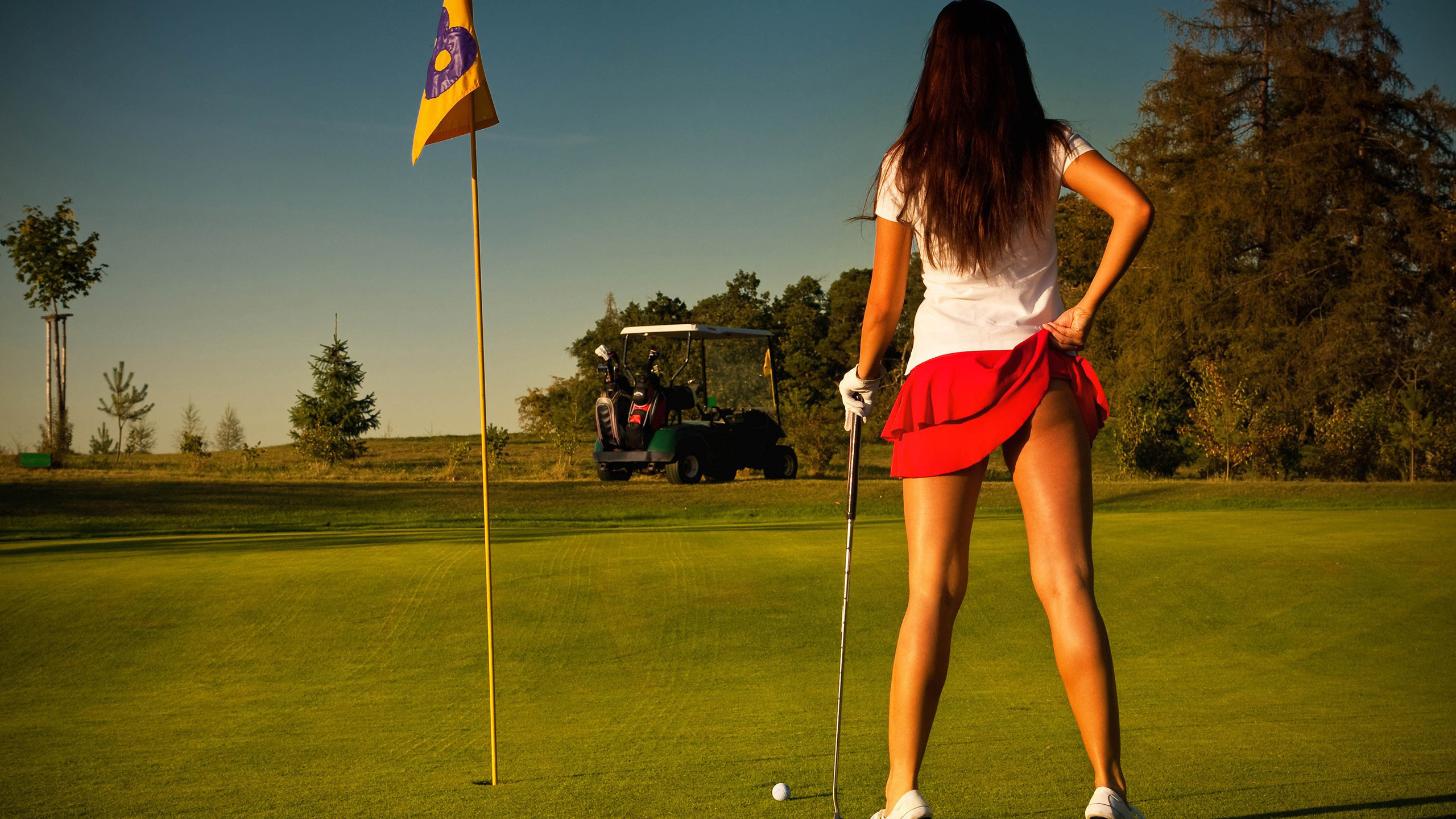 Naked sexy golf butt oral sexy