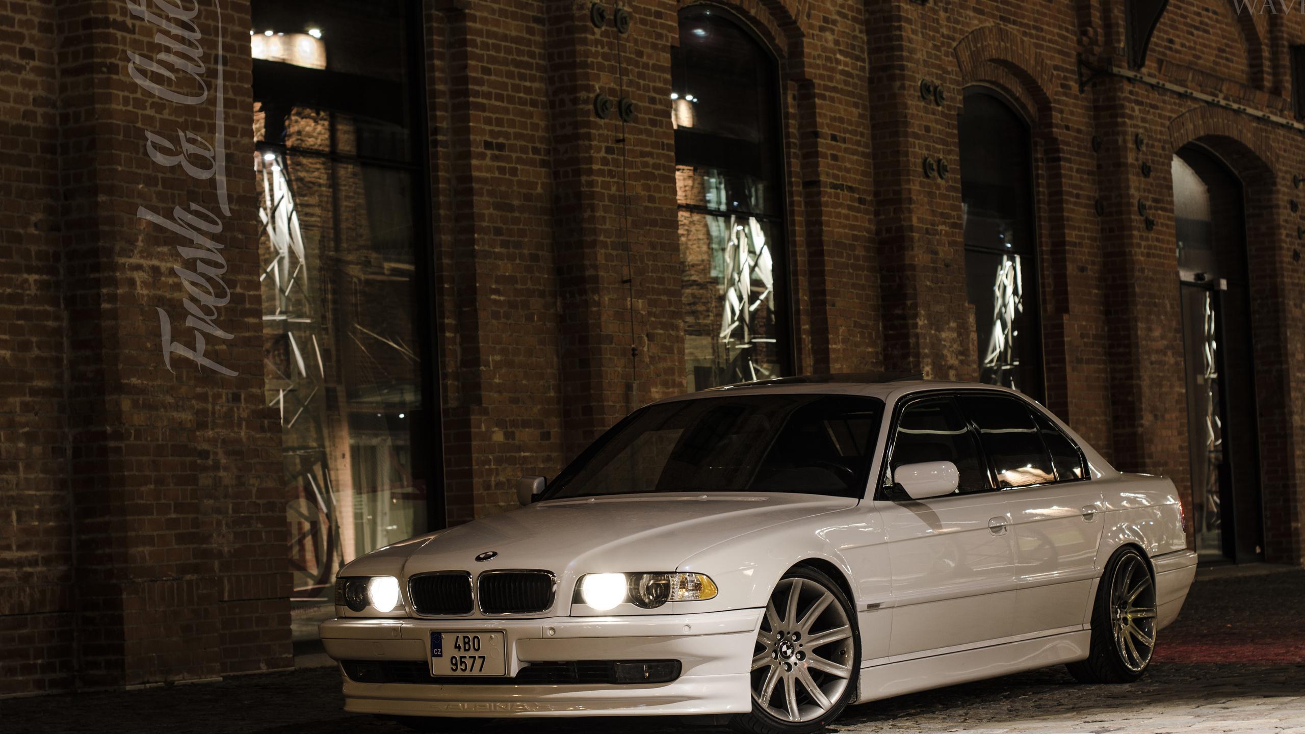 e38, белый, bmw 740, bumer, семёрка, бумер