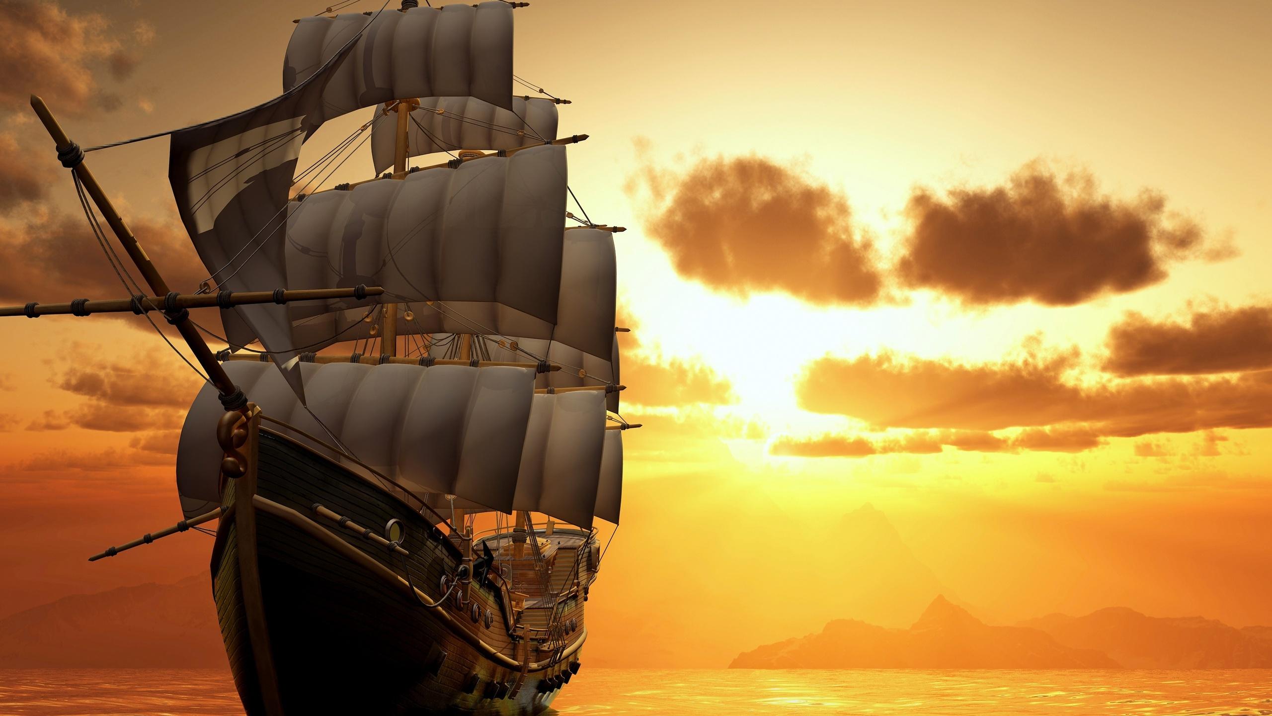 Картинки кораблей, открытки весна