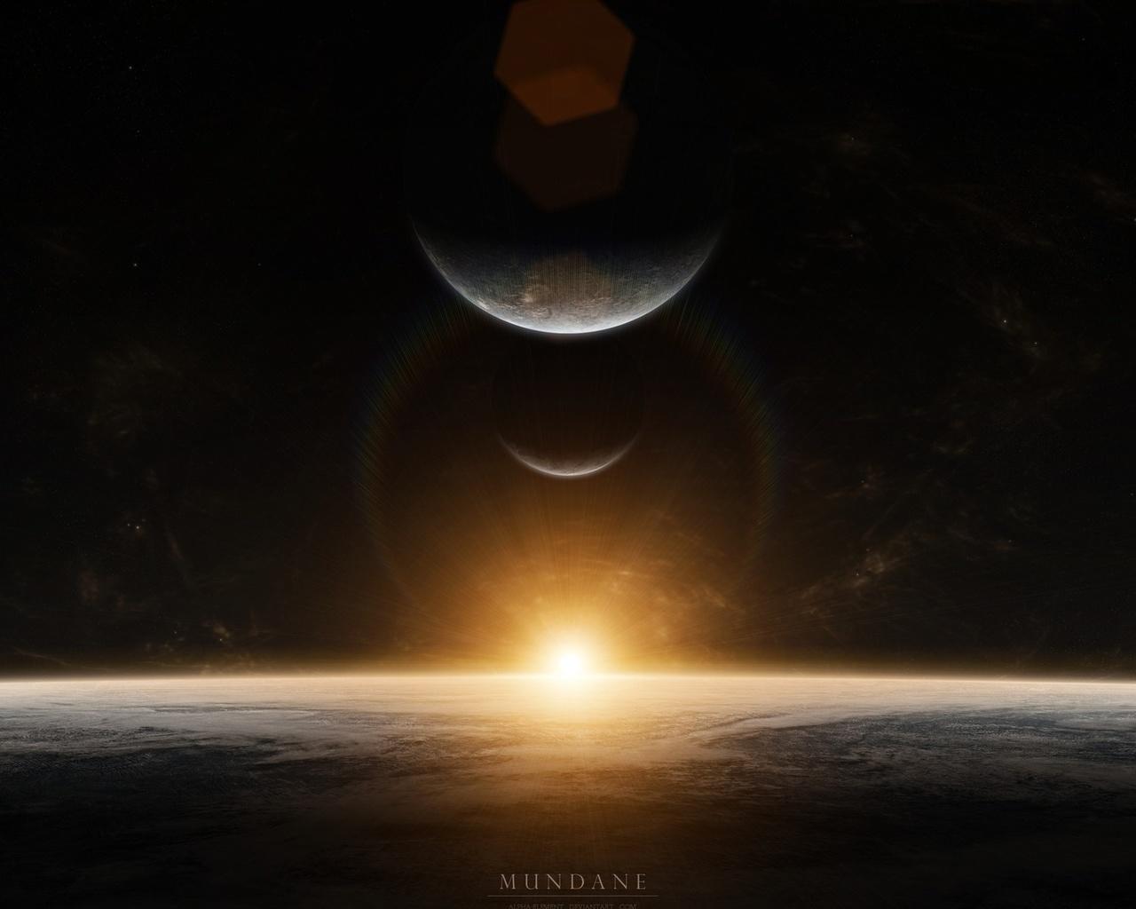 планеты, звезды, восход, sunrise, mundane