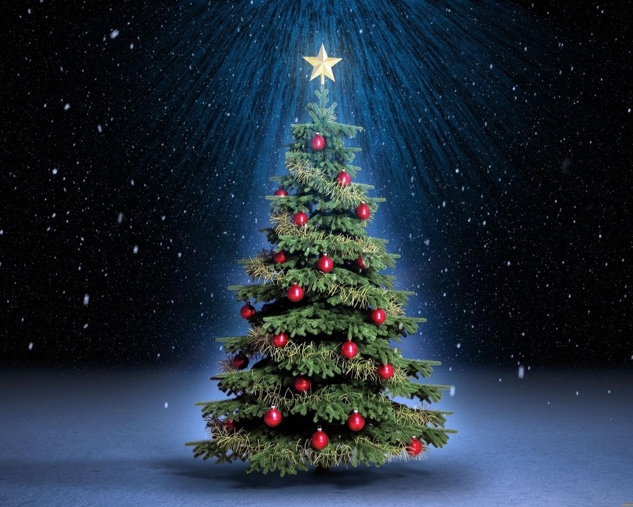 новый год, елка, фэнтези, арт, работа, красиво, новогодняя елка, темный фон