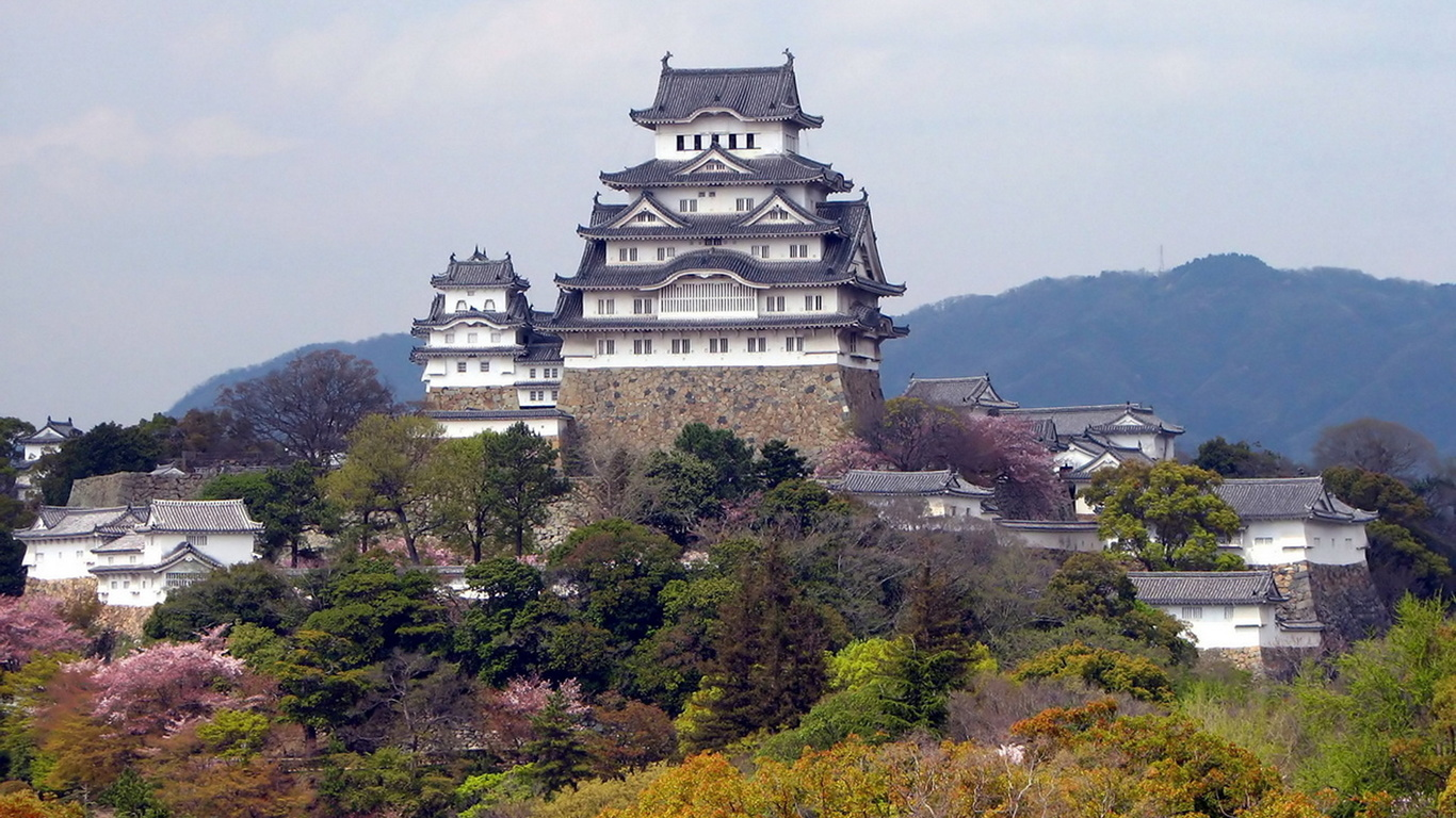 Япония, замок, замки Японии, красота, замки мира,, небо, природа