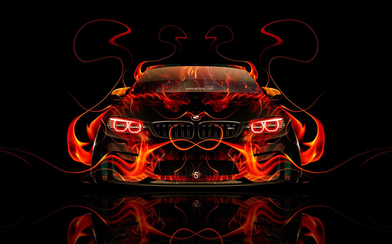 tony kokhan, bmw, m4, fire, car, front, tuning, orange, abstract, flame, black, el tony cars, photoshop, design, art, style, hd wallpapers, тони кохан, фотошоп, бмв, м4, эмка, вид спереди, огненная, машина, огненное, авто, обои, арт, стиль, огонь, пламя,