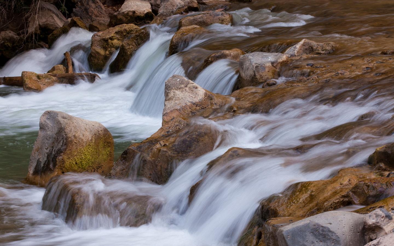 сша, юта, ручей, камни, поток, красота