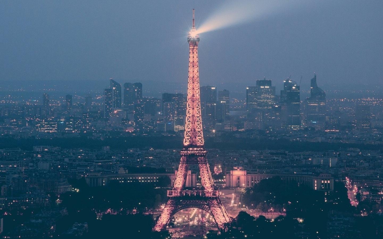 eiffel, paris, france, light, night, europe