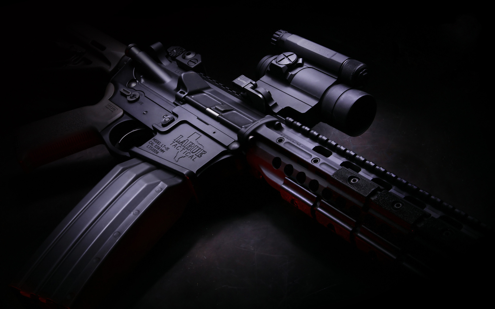 m4, карабин, магазин, оптика, larue tactical, оружие, полумрак, hd