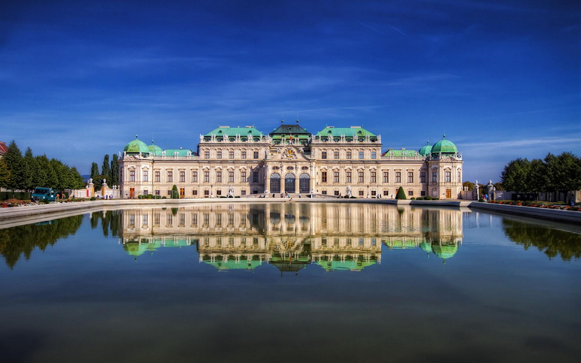 австрия, вена, замок, красота, замки австрии, замки мира,, небо,