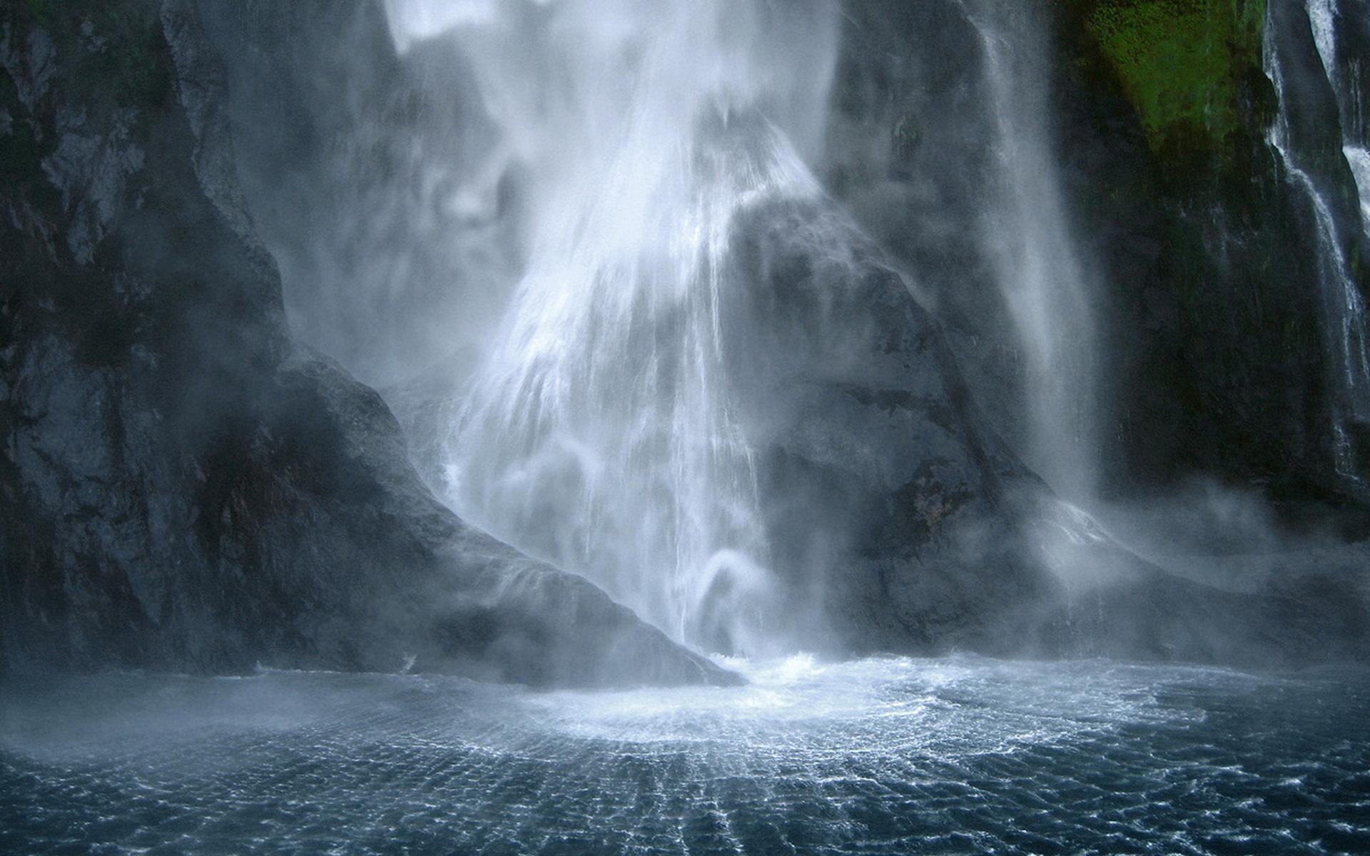 новая зеландия, водопад, скалы, красота