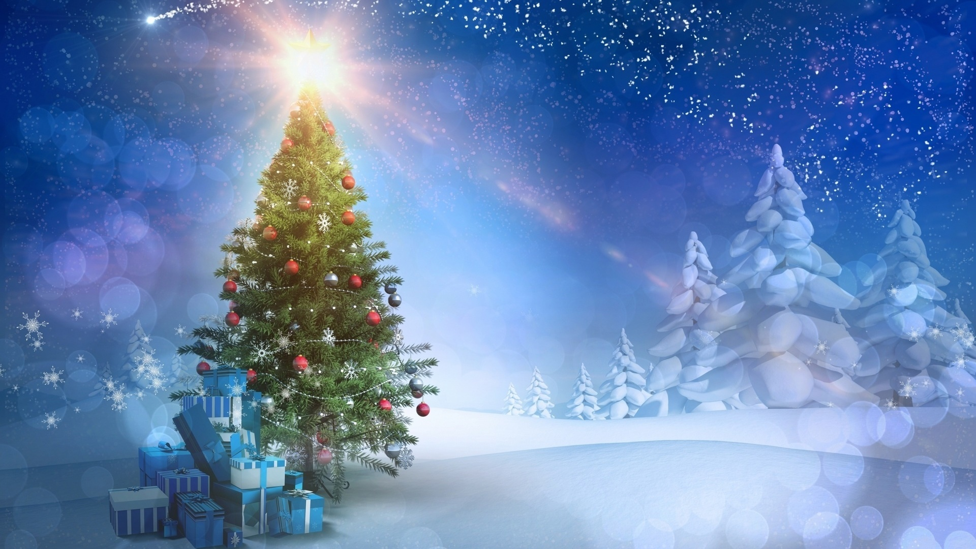 С новым годом открытка елка, добрым утром милый