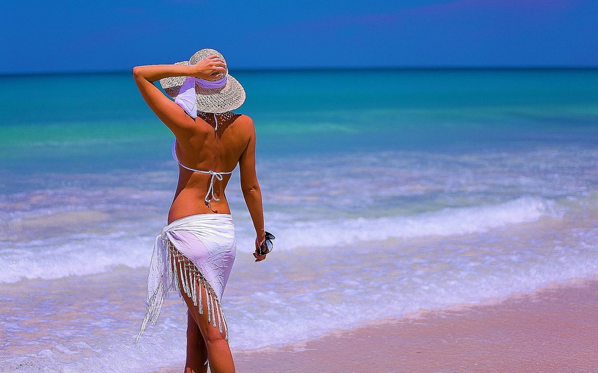Прикольные фото девушек на пляже смотреть онлайн