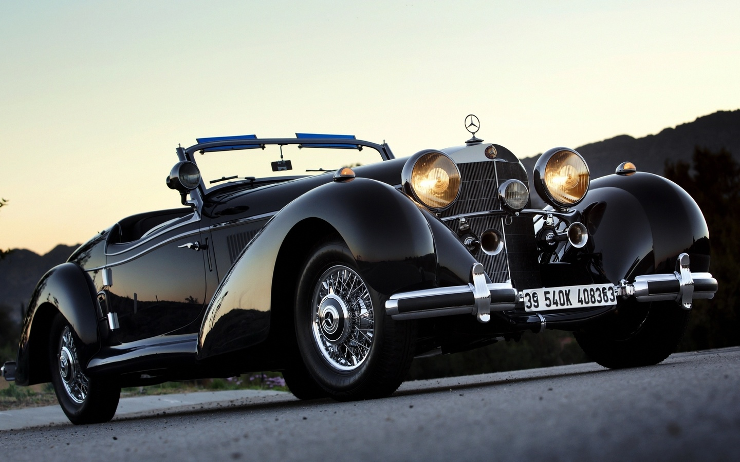 1939, mercedes-benz, 540k, roadster, мерседес, бенц, ретро