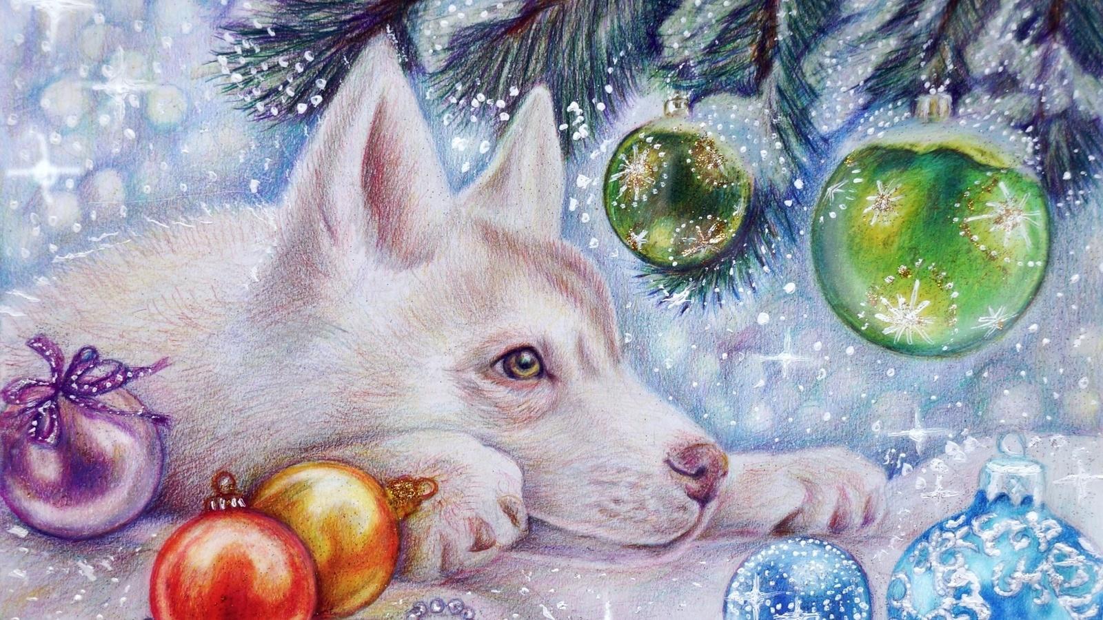Животные новогодние открытки, сердце схемы открытка