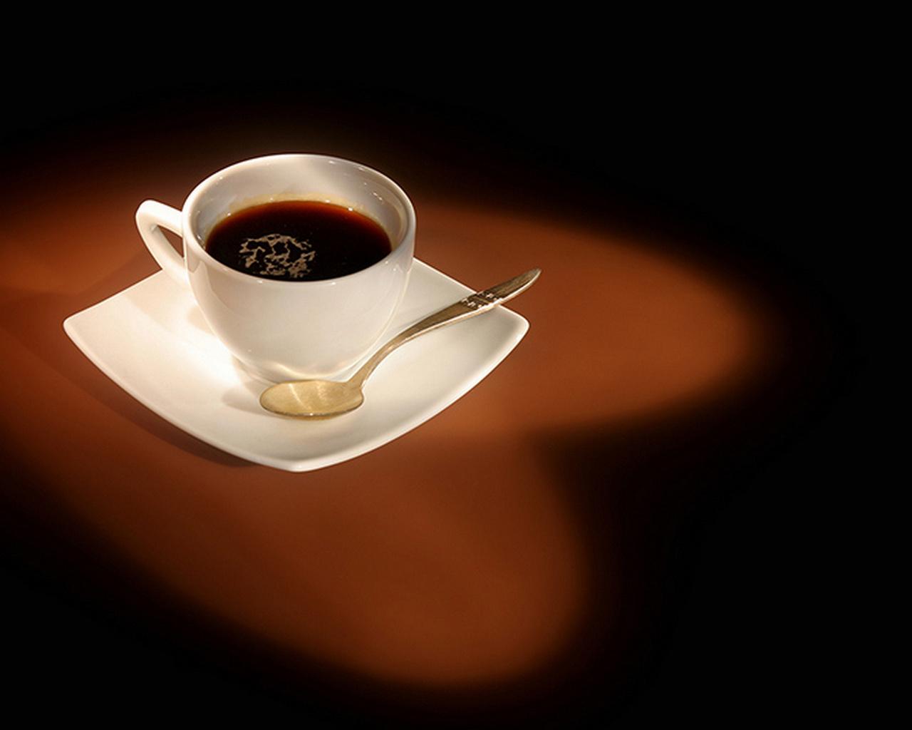 сердце, кофе, чашка, блюдце, ложечка